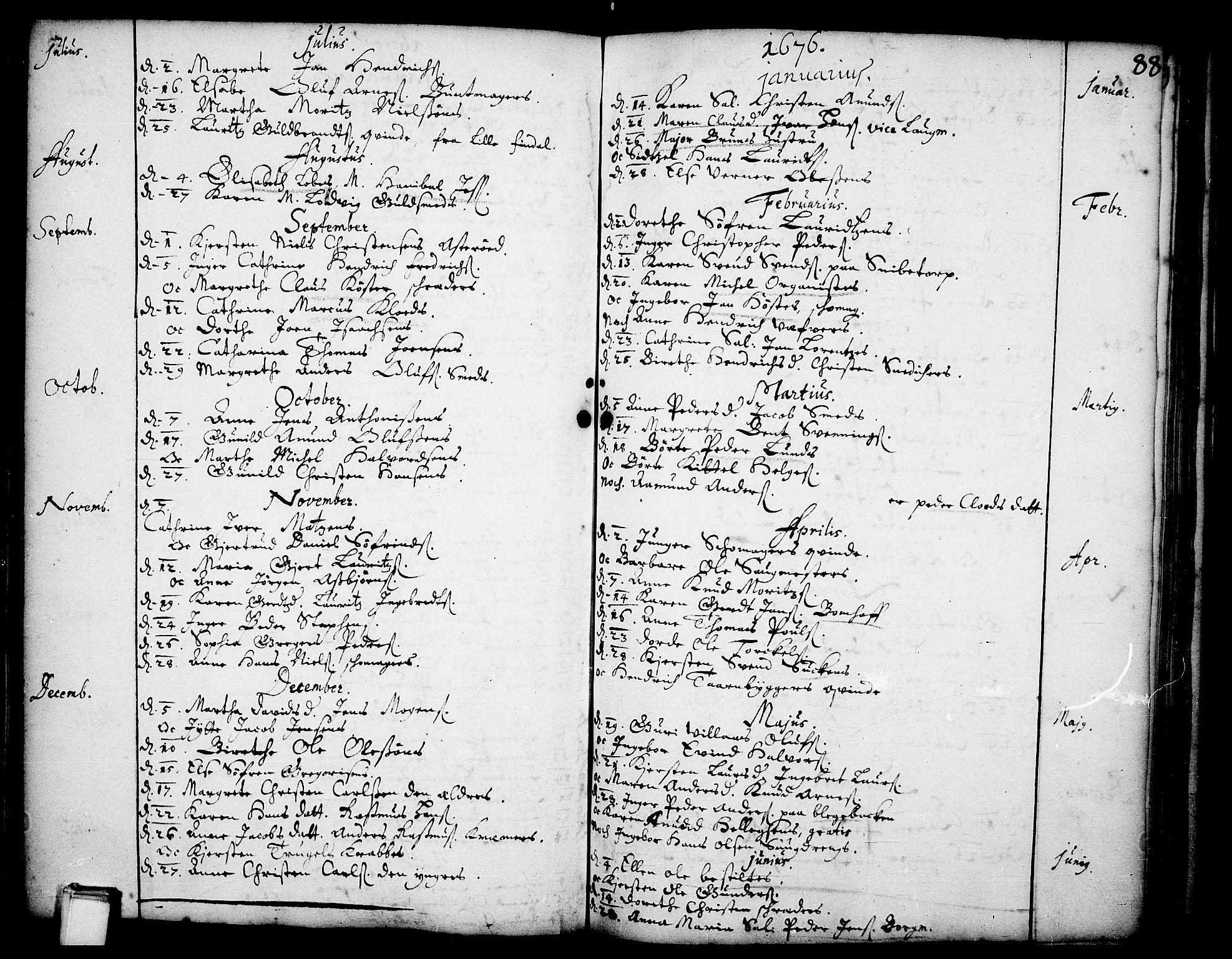 SAKO, Skien kirkebøker, F/Fa/L0001: Ministerialbok nr. 1, 1659-1679, s. 88