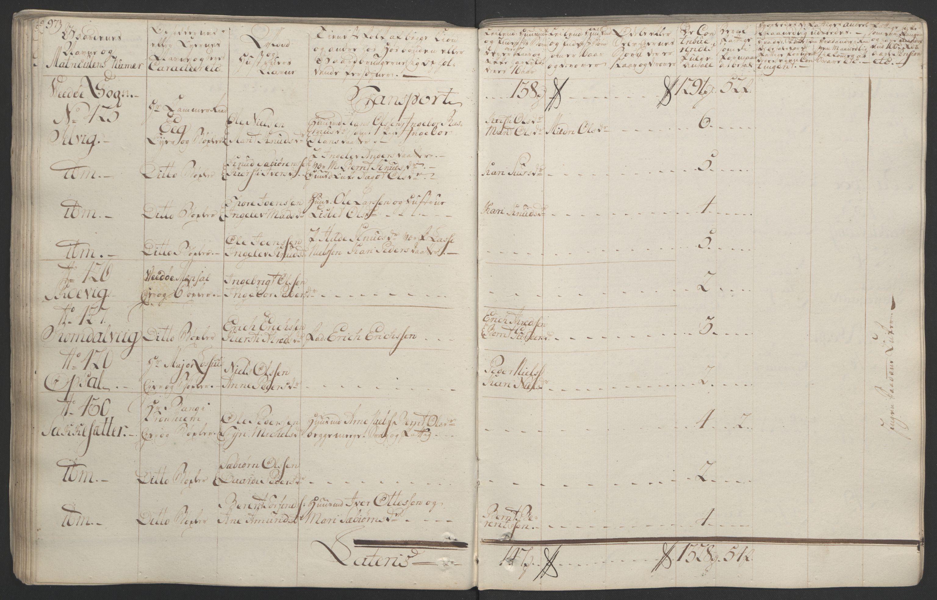RA, Rentekammeret inntil 1814, Realistisk ordnet avdeling, Ol/L0020: [Gg 10]: Ekstraskatten, 23.09.1762. Romsdal, Strinda, Selbu, Inderøy., 1764, s. 102