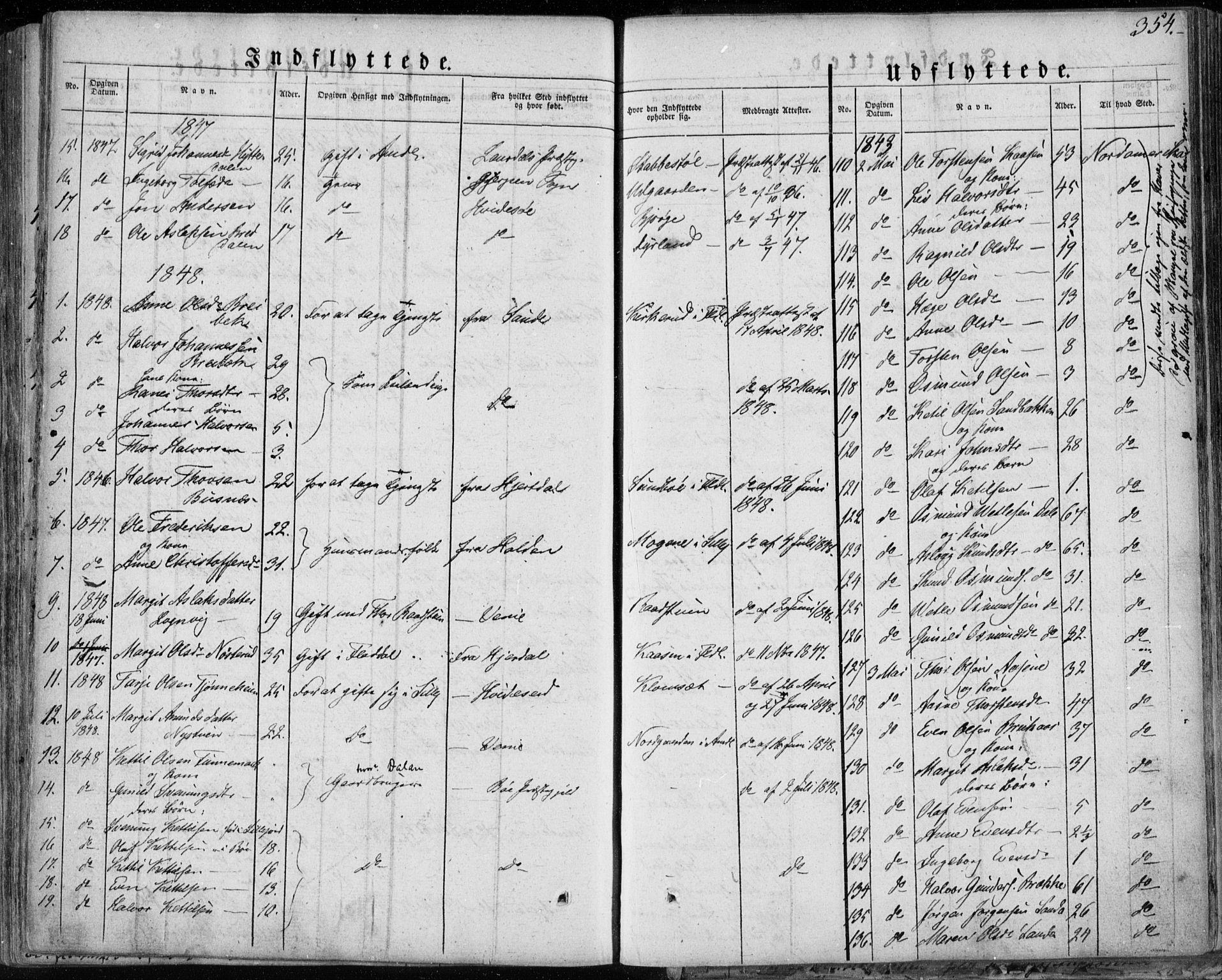 SAKO, Seljord kirkebøker, F/Fa/L0011: Ministerialbok nr. I 11, 1831-1849, s. 354