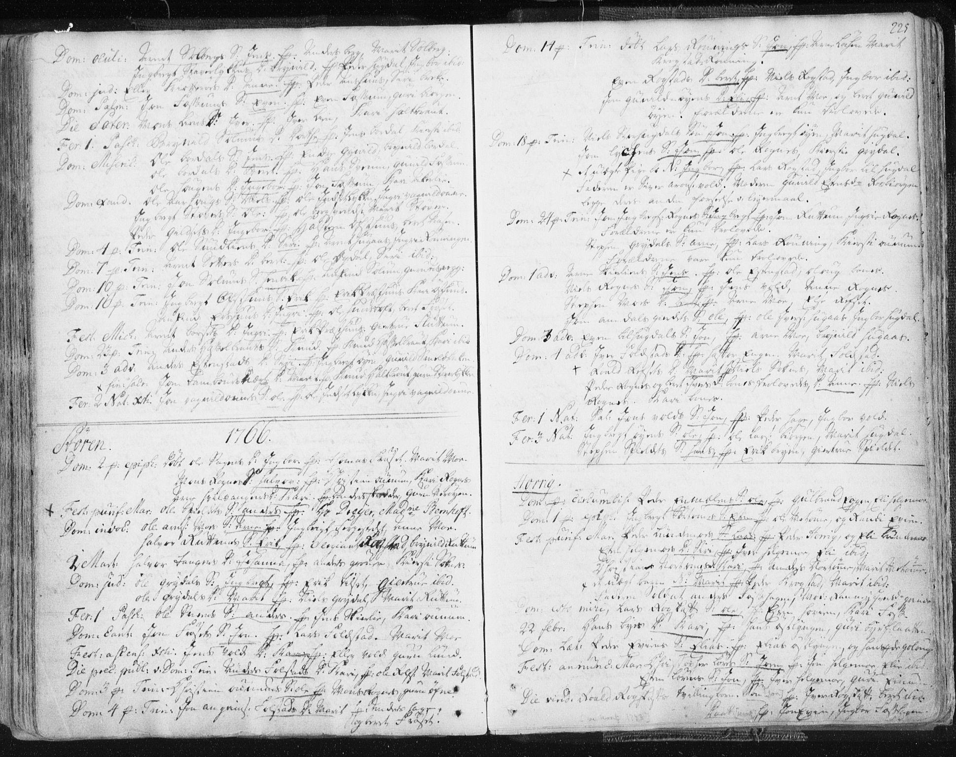 SAT, Ministerialprotokoller, klokkerbøker og fødselsregistre - Sør-Trøndelag, 687/L0991: Ministerialbok nr. 687A02, 1747-1790, s. 225