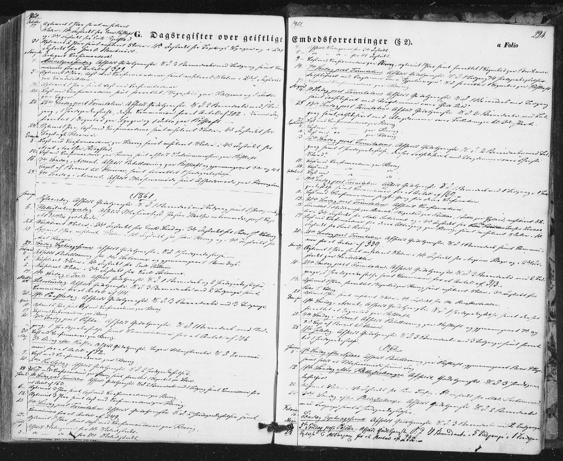 SAT, Ministerialprotokoller, klokkerbøker og fødselsregistre - Sør-Trøndelag, 692/L1103: Ministerialbok nr. 692A03, 1849-1870, s. 294