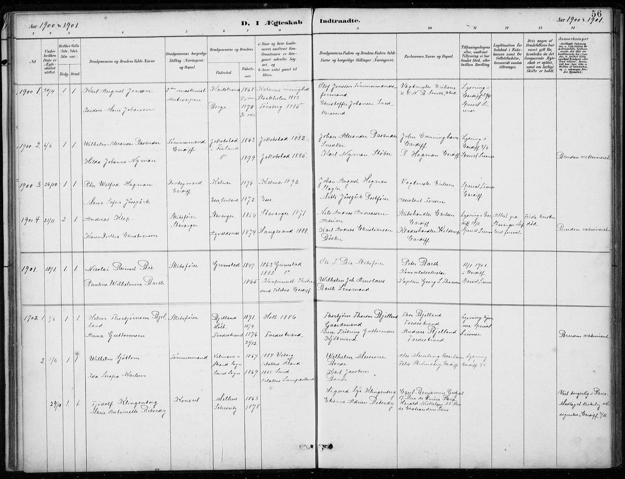 SAB, Den Norske Sjømannsmisjon i utlandet*, Ministerialbok nr. A 2, 1887-1932, s. 56