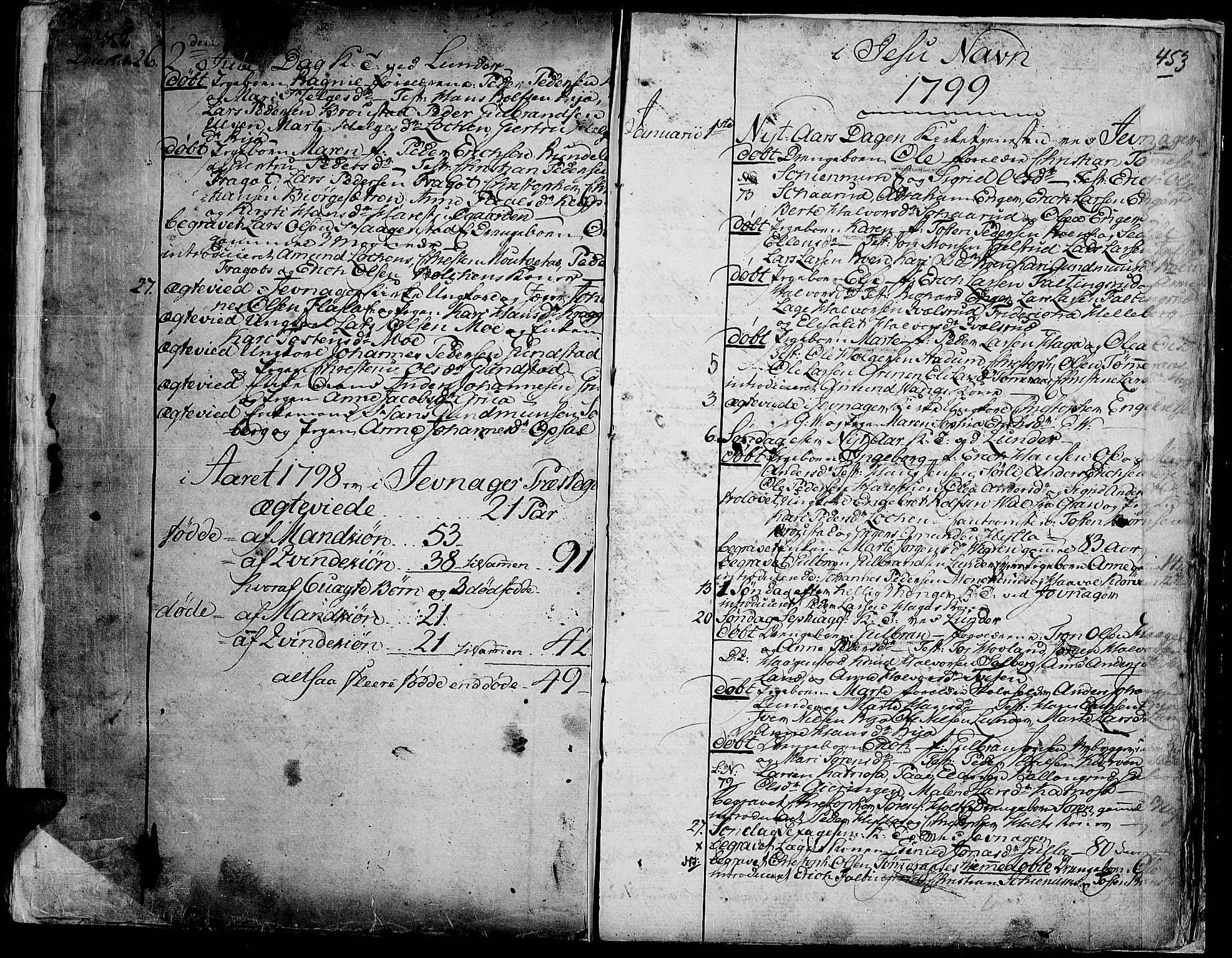 SAH, Jevnaker prestekontor, Ministerialbok nr. 3, 1752-1799, s. 452-453