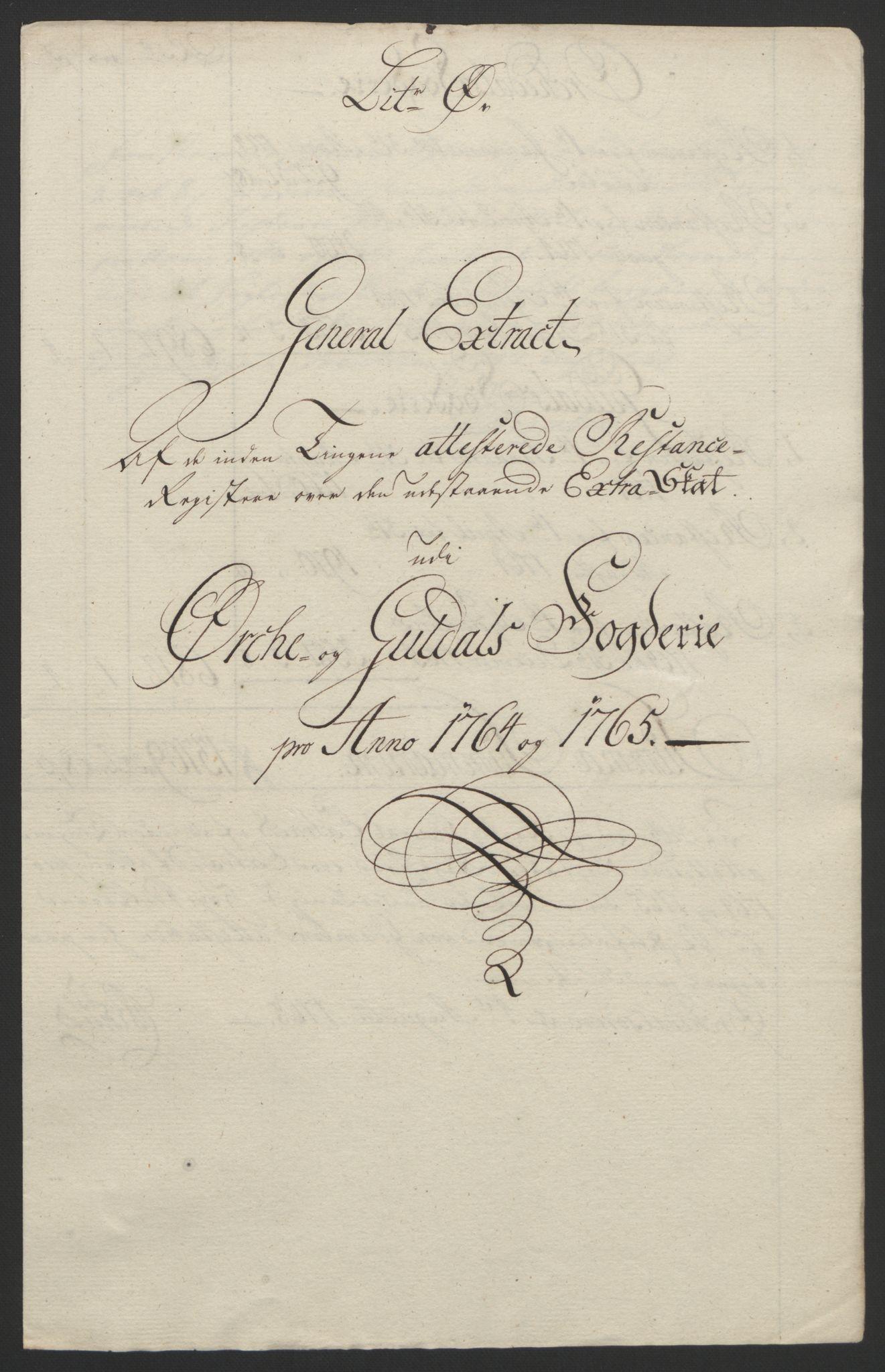 RA, Rentekammeret inntil 1814, Reviderte regnskaper, Fogderegnskap, R60/L4094: Ekstraskatten Orkdal og Gauldal, 1762-1765, s. 218