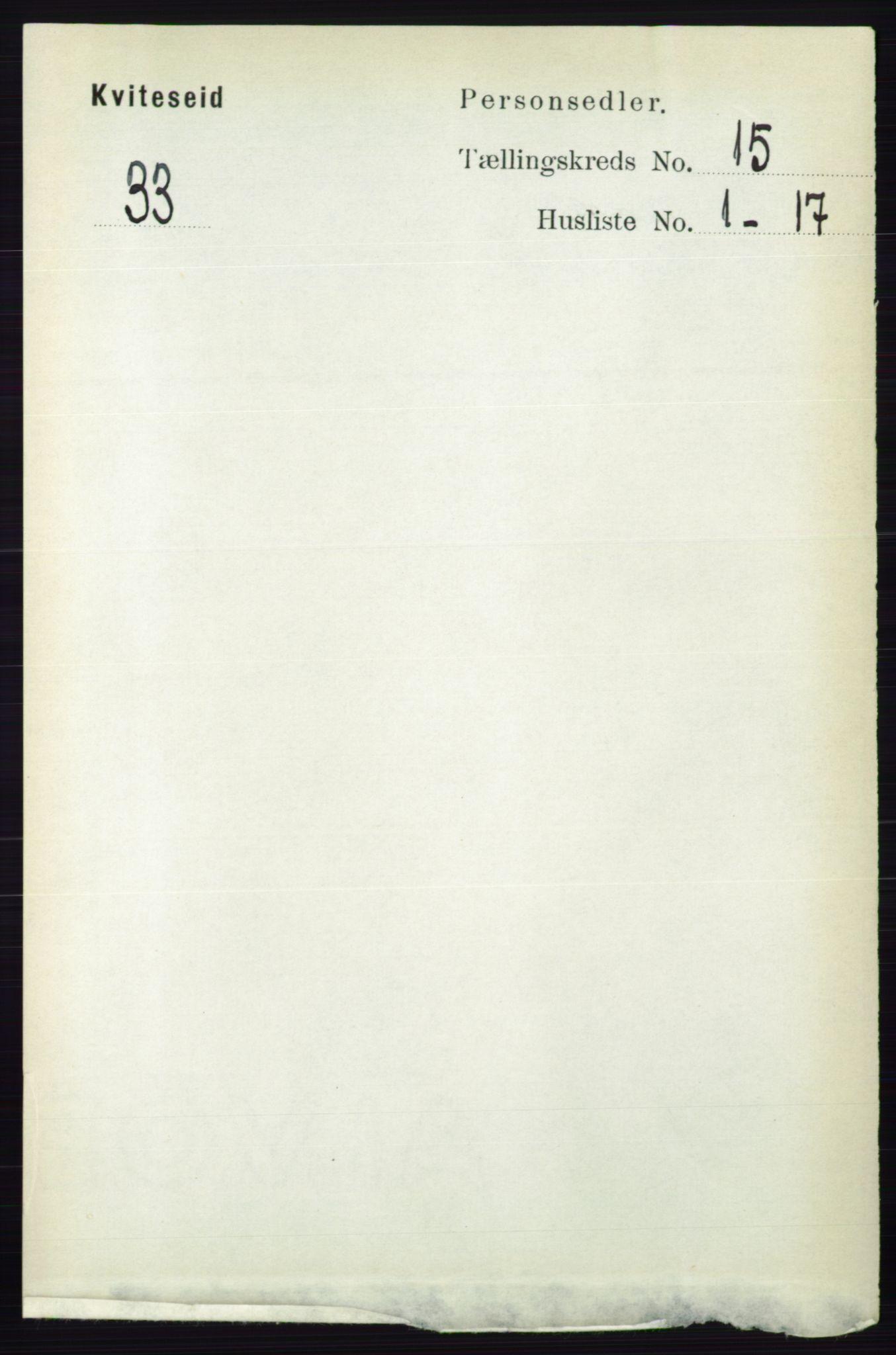 RA, Folketelling 1891 for 0829 Kviteseid herred, 1891, s. 3520