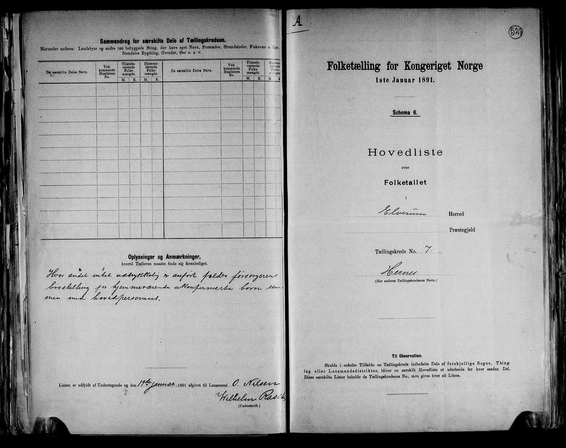 RA, Folketelling 1891 for 0427 Elverum herred, 1891, s. 24