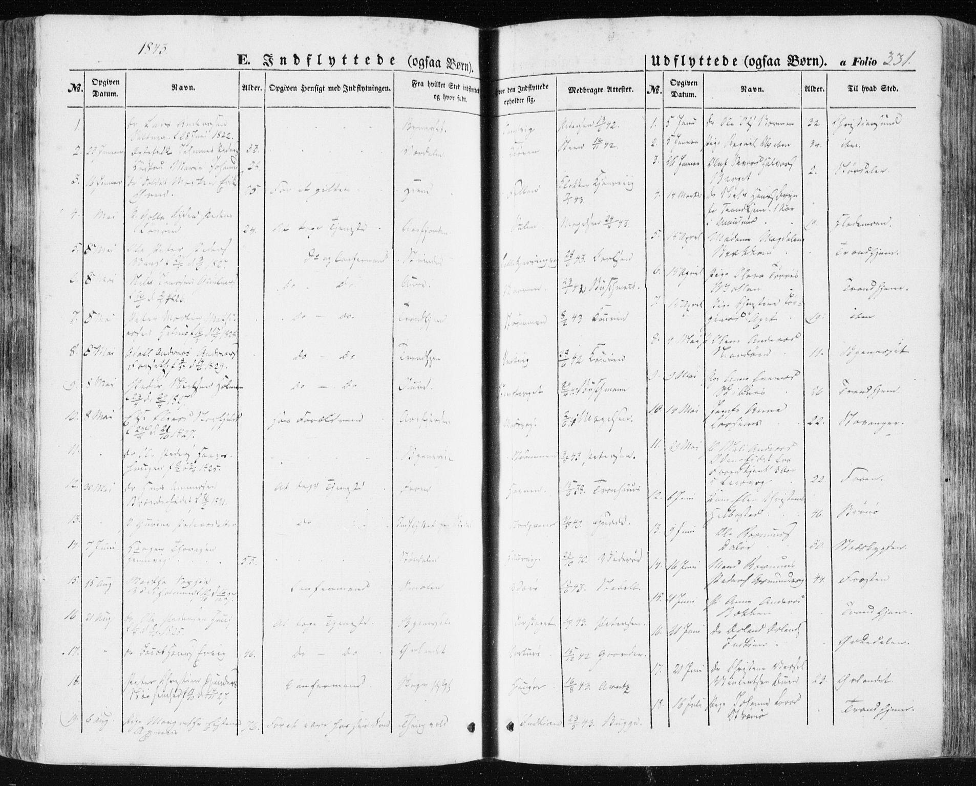 SAT, Ministerialprotokoller, klokkerbøker og fødselsregistre - Sør-Trøndelag, 634/L0529: Ministerialbok nr. 634A05, 1843-1851, s. 331