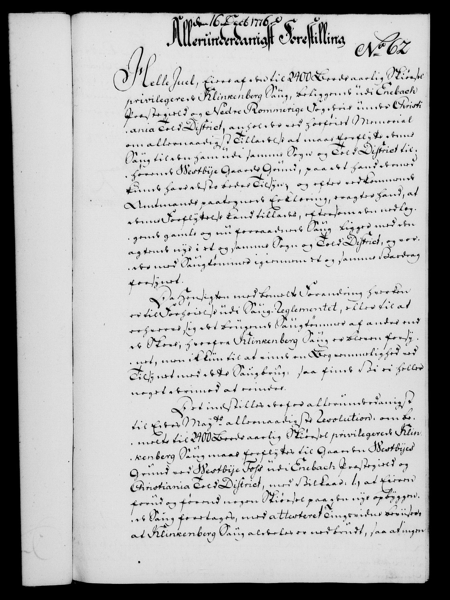RA, Rentekammeret, Kammerkanselliet, G/Gf/Gfa/L0058: Norsk relasjons- og resolusjonsprotokoll (merket RK 52.58), 1776, s. 237