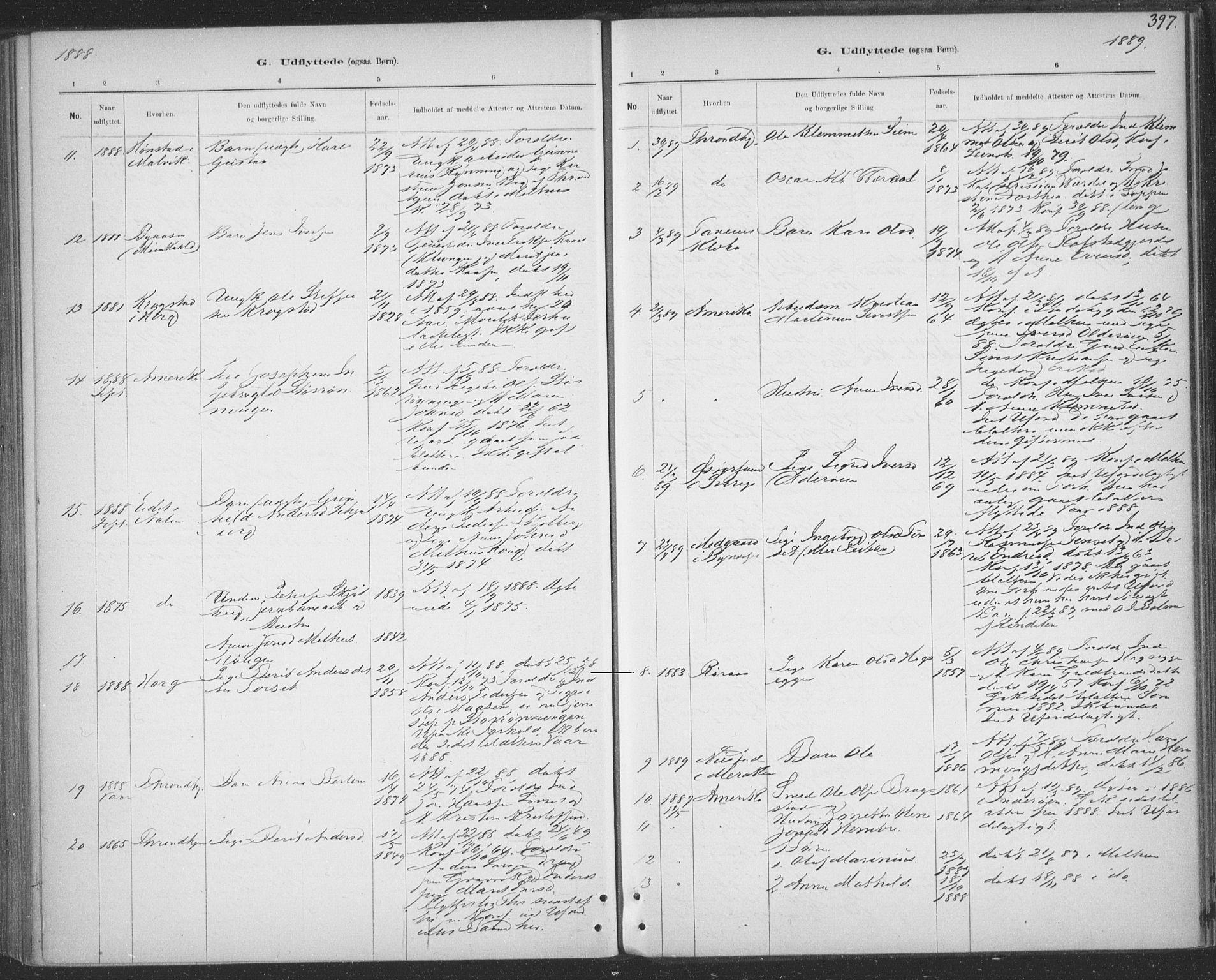 SAT, Ministerialprotokoller, klokkerbøker og fødselsregistre - Sør-Trøndelag, 691/L1085: Ministerialbok nr. 691A17, 1887-1908, s. 397