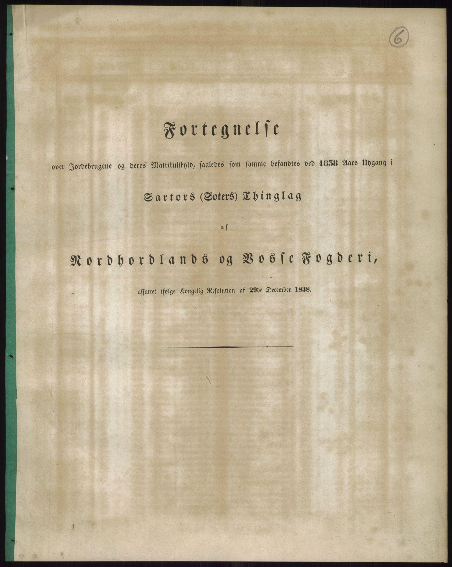 RA, 1838-matrikkelen (publikasjon)*, 1838, s. 6