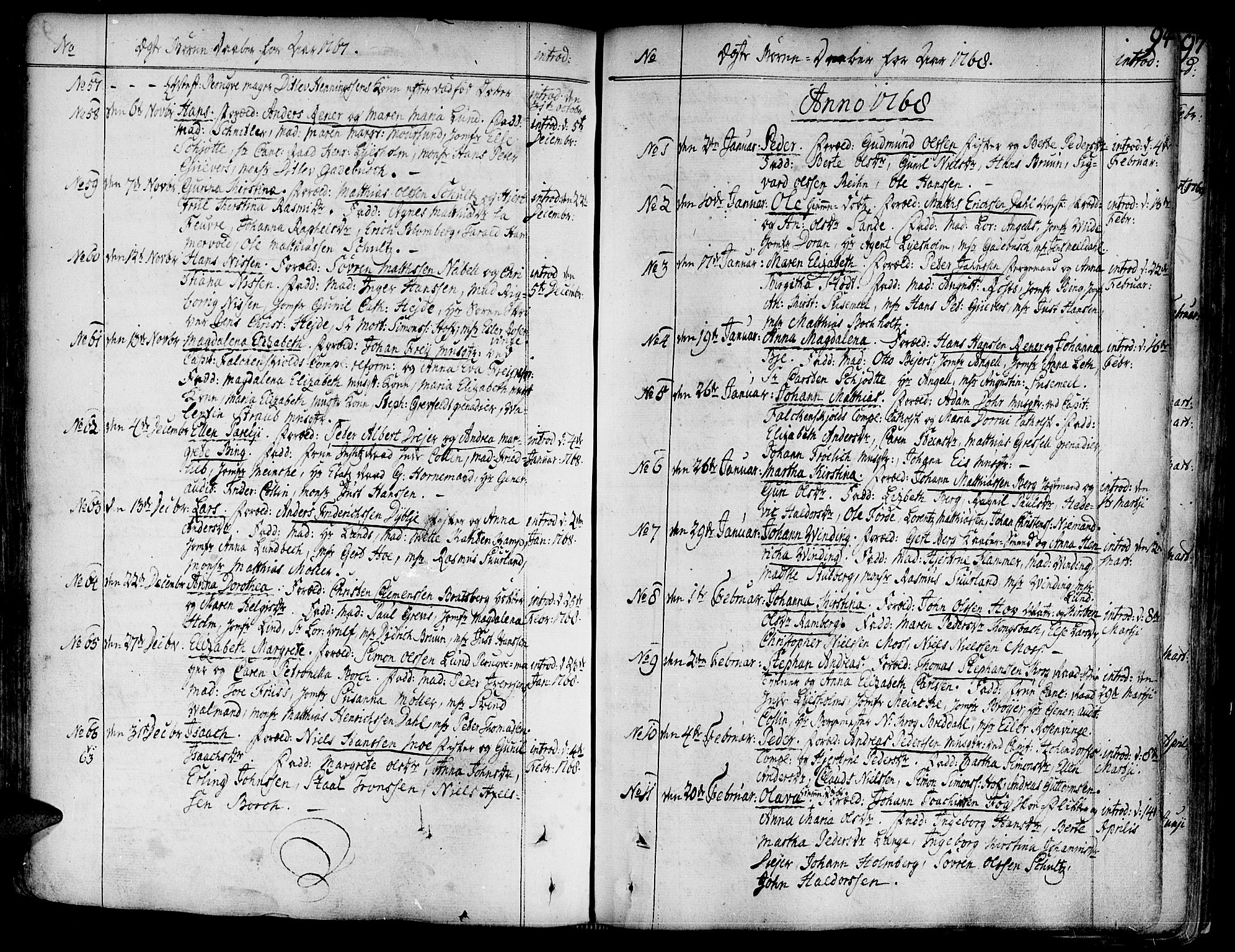 SAT, Ministerialprotokoller, klokkerbøker og fødselsregistre - Sør-Trøndelag, 602/L0103: Ministerialbok nr. 602A01, 1732-1774, s. 94