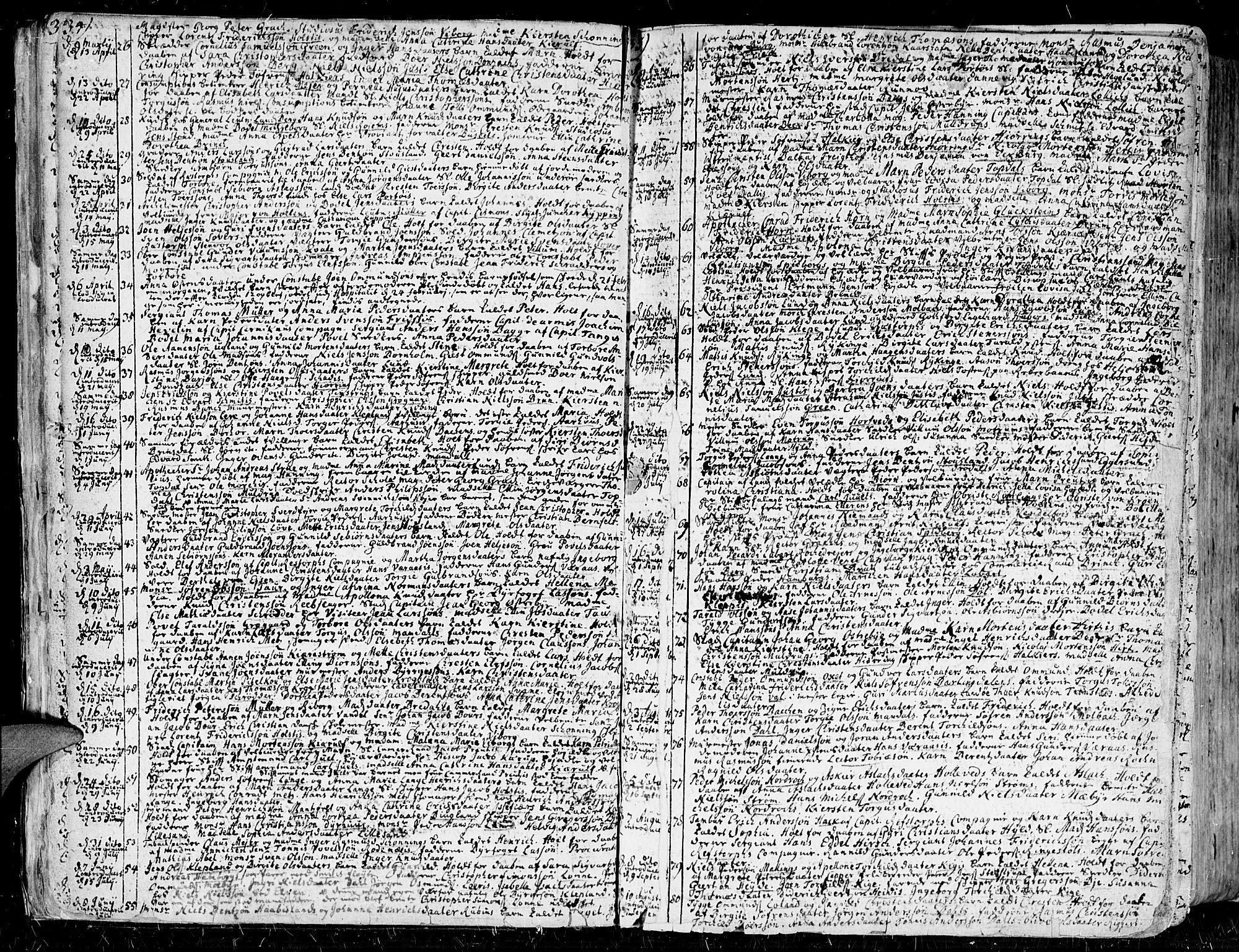 SAK, Kristiansand domprosti, F/Fa/L0001: Ministerialbok nr. A 1, 1734-1793, s. 34-35