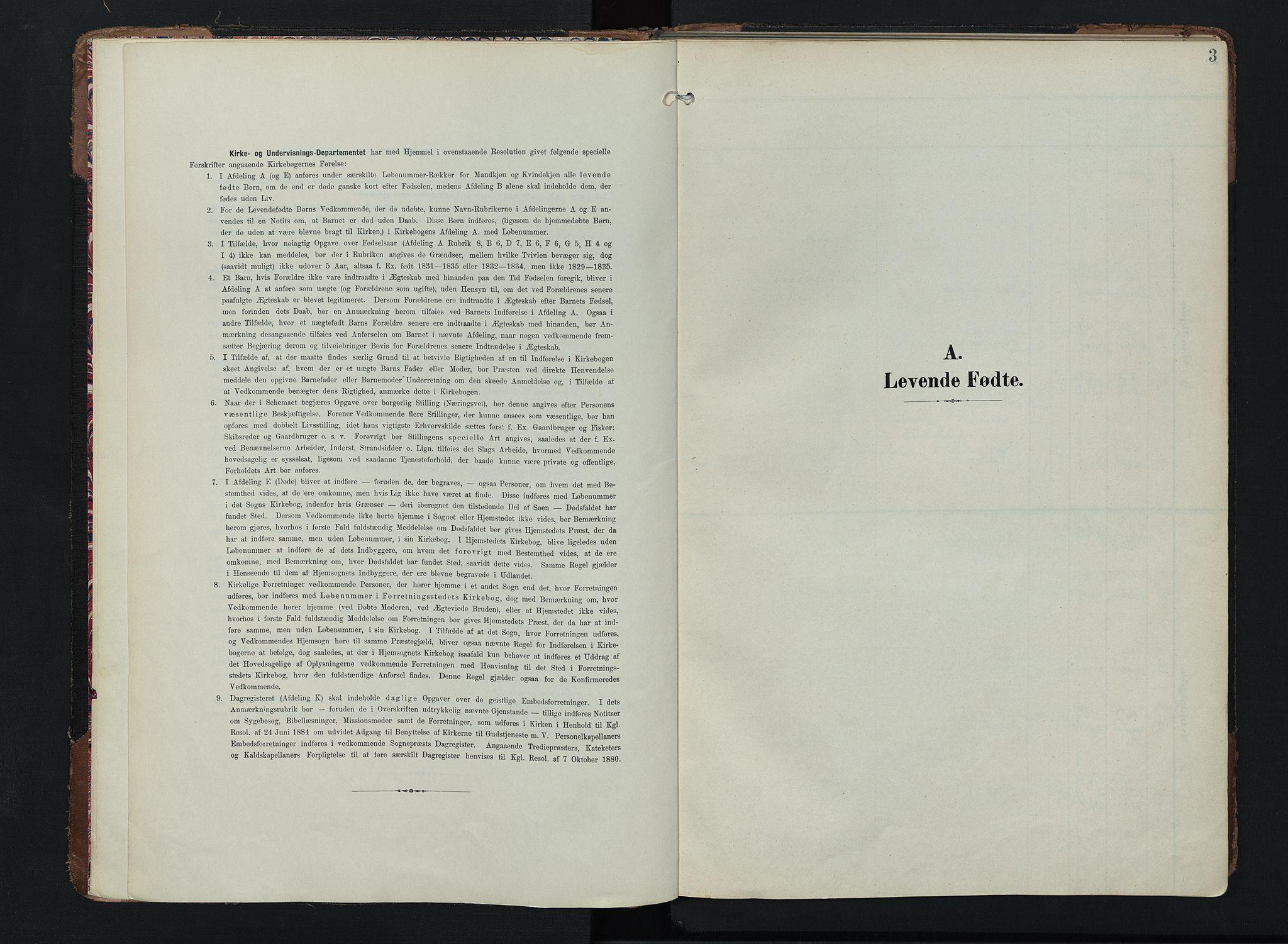 SAH, Lom prestekontor, K/L0011: Ministerialbok nr. 11, 1904-1928, s. 3