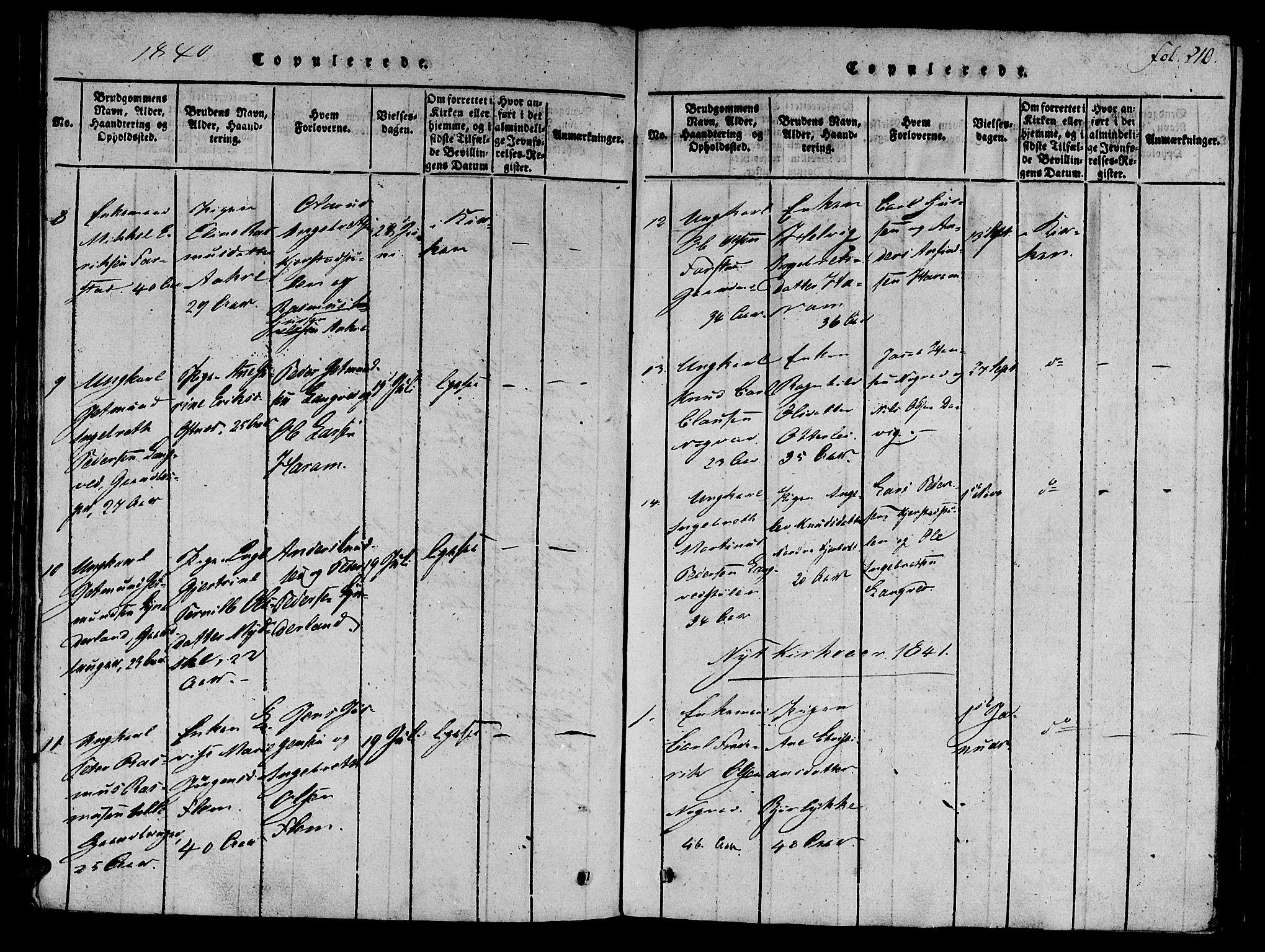 SAT, Ministerialprotokoller, klokkerbøker og fødselsregistre - Møre og Romsdal, 536/L0495: Ministerialbok nr. 536A04, 1818-1847, s. 210