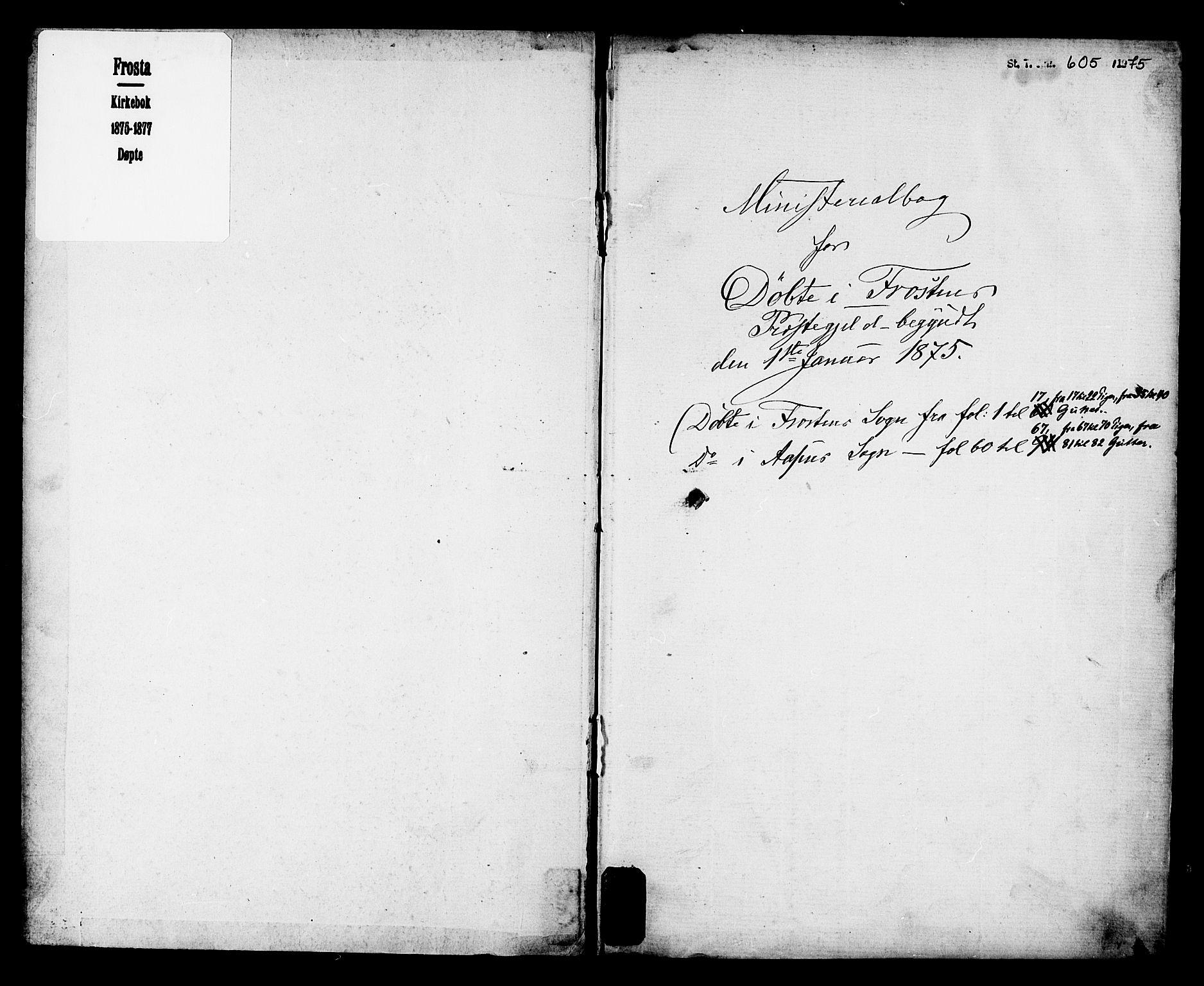 SAT, Ministerialprotokoller, klokkerbøker og fødselsregistre - Nord-Trøndelag, 713/L0118: Ministerialbok nr. 713A08 /1, 1875-1877