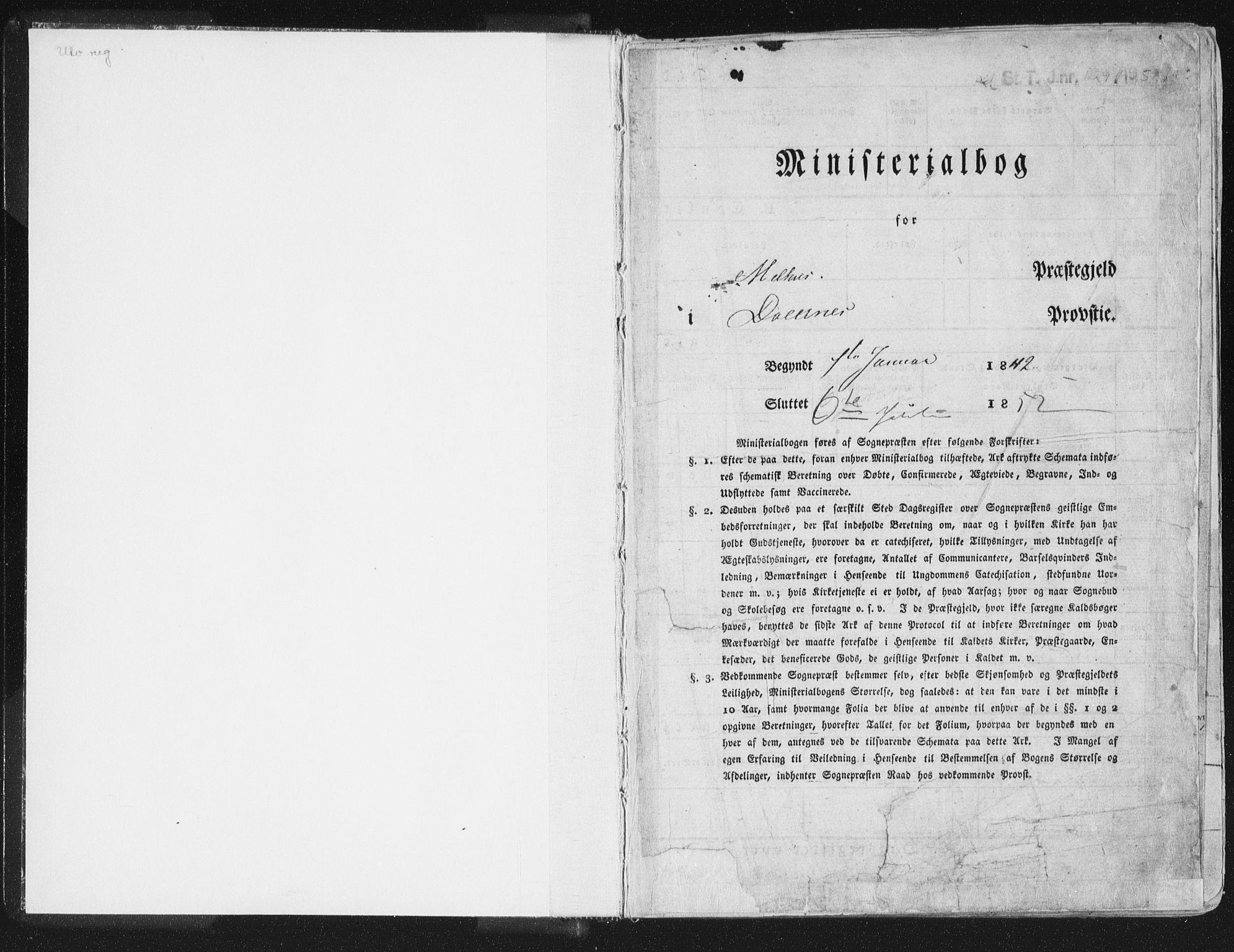 SAT, Ministerialprotokoller, klokkerbøker og fødselsregistre - Sør-Trøndelag, 691/L1074: Ministerialbok nr. 691A06, 1842-1852