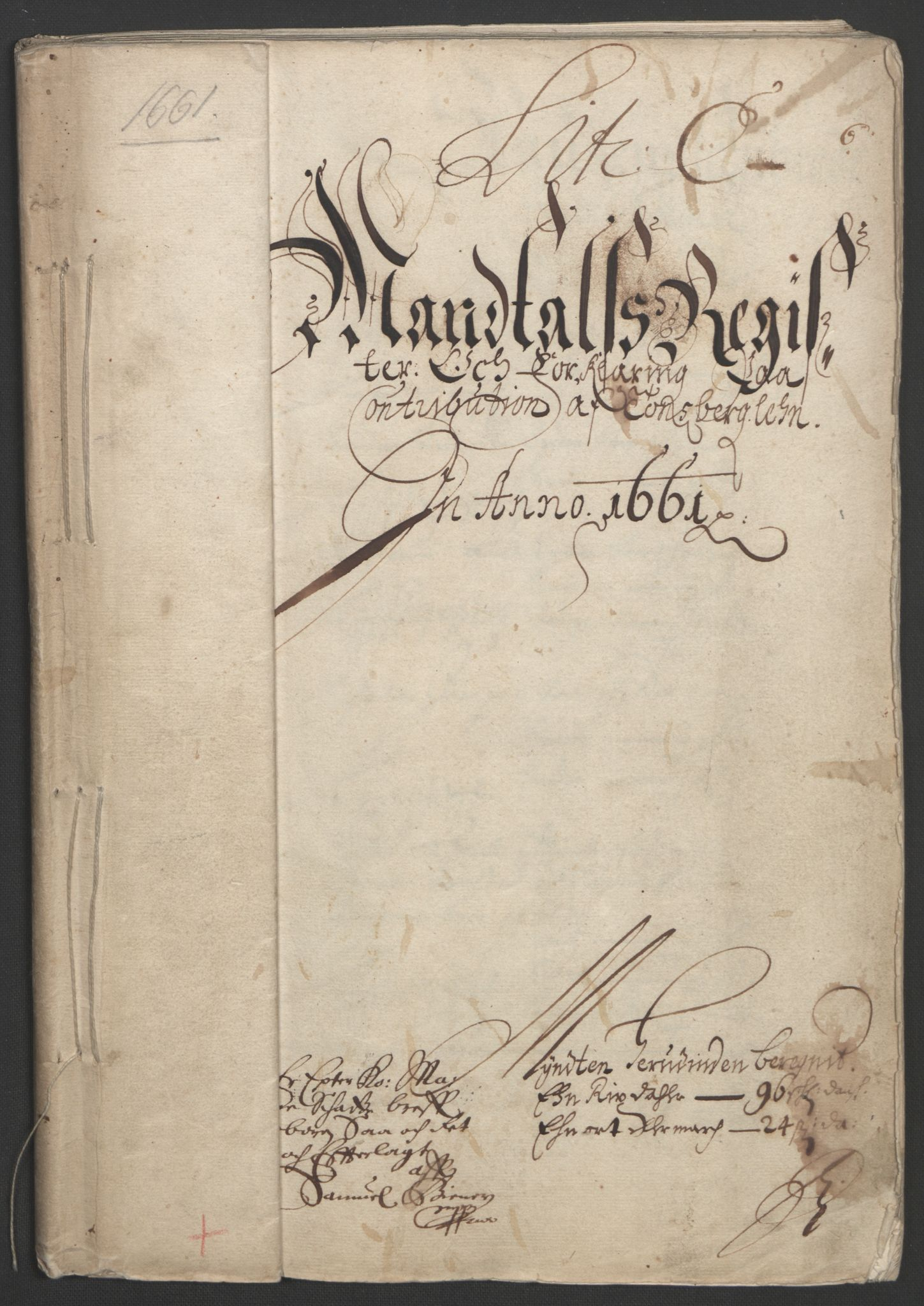RA, Rentekammeret inntil 1814, Reviderte regnskaper, Fogderegnskap, R32/L1838: Fogderegnskap Jarlsberg grevskap, 1661-1663, s. 38