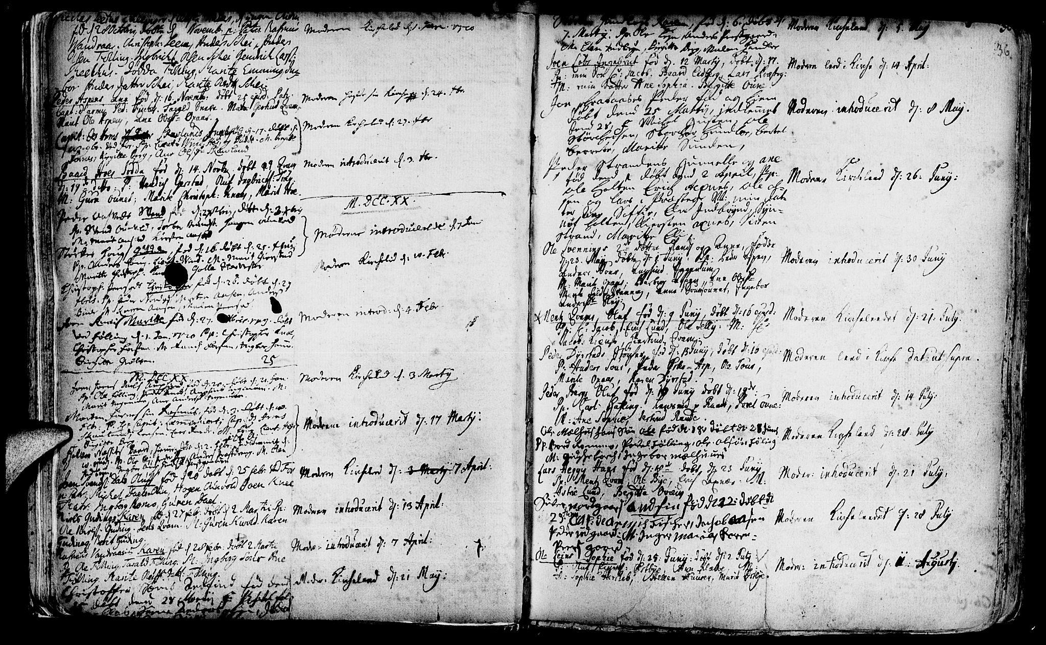 SAT, Ministerialprotokoller, klokkerbøker og fødselsregistre - Nord-Trøndelag, 746/L0439: Ministerialbok nr. 746A01, 1688-1759, s. 36