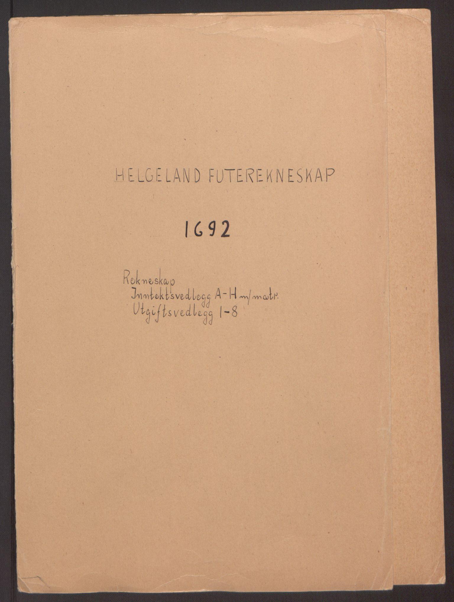 RA, Rentekammeret inntil 1814, Reviderte regnskaper, Fogderegnskap, R65/L4504: Fogderegnskap Helgeland, 1691-1692, s. 165