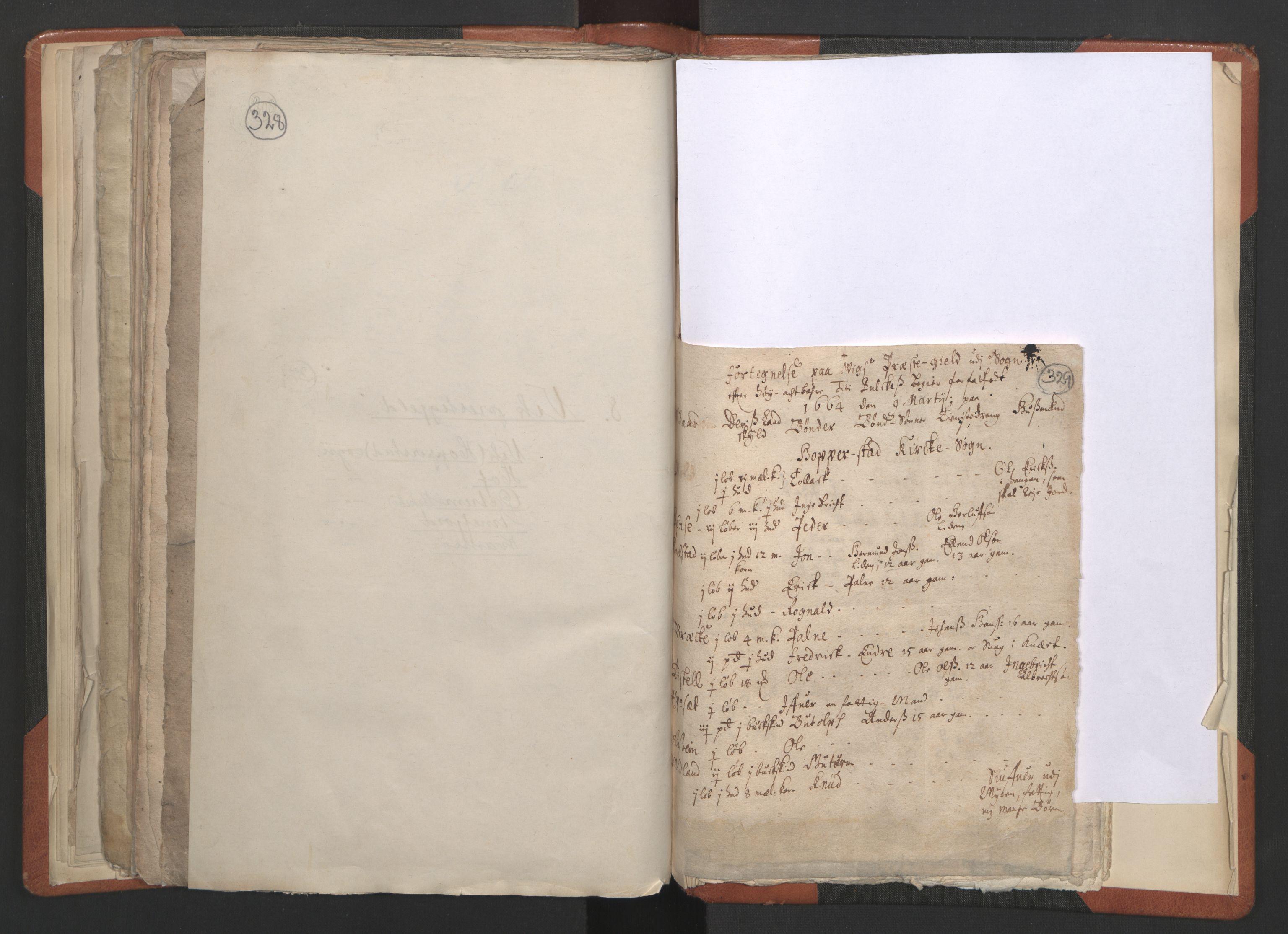 RA, Sogneprestenes manntall 1664-1666, nr. 23: Sogn prosti, 1664-1666, s. 328-329
