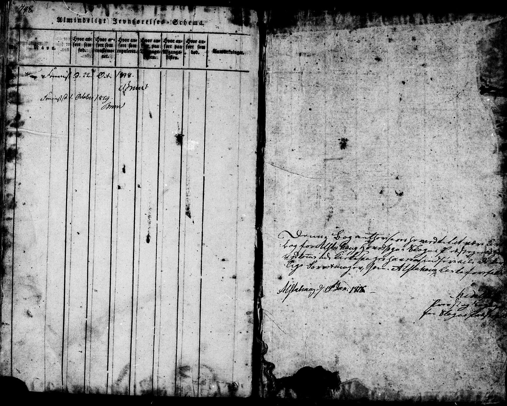 SAT, Ministerialprotokoller, klokkerbøker og fødselsregistre - Nord-Trøndelag, 717/L0169: Klokkerbok nr. 717C01, 1816-1834