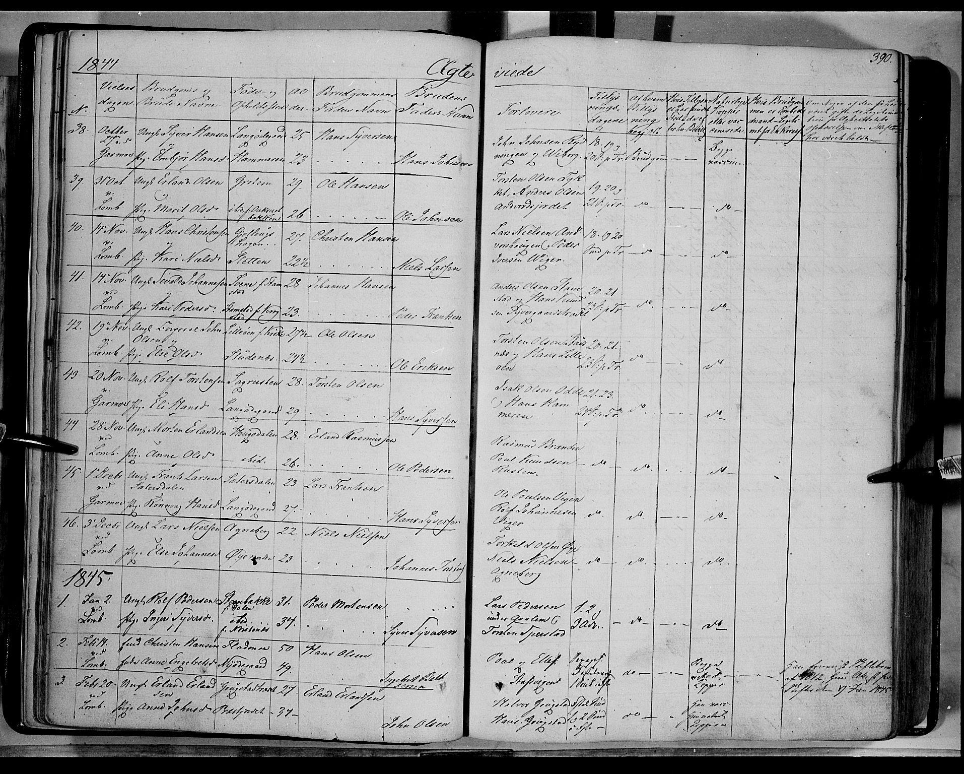 SAH, Lom prestekontor, K/L0006: Ministerialbok nr. 6B, 1837-1863, s. 390