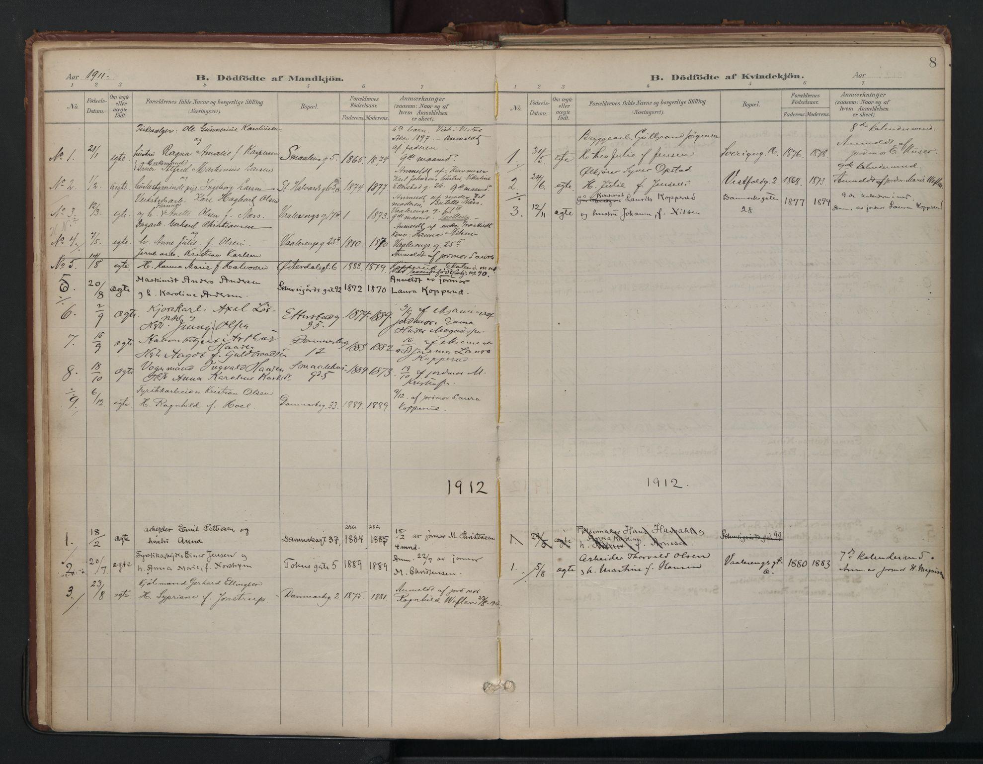 SAO, Vålerengen prestekontor Kirkebøker, F/Fa/L0003: Ministerialbok nr. 3, 1899-1930, s. 8