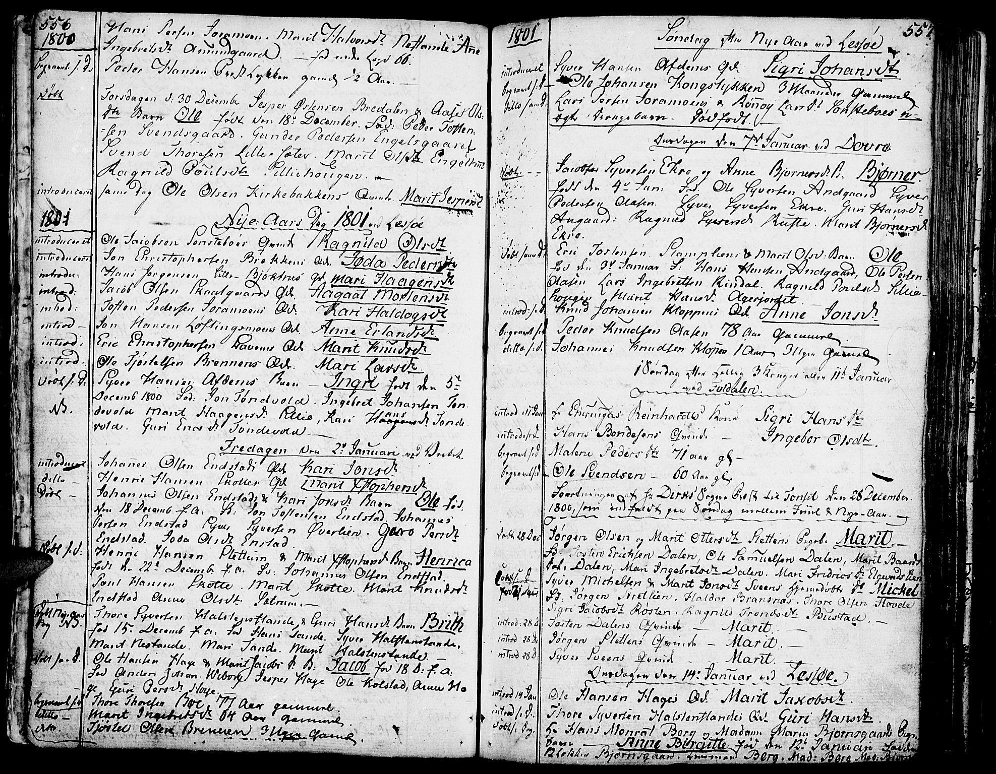 SAH, Lesja prestekontor, Ministerialbok nr. 3, 1777-1819, s. 556-557