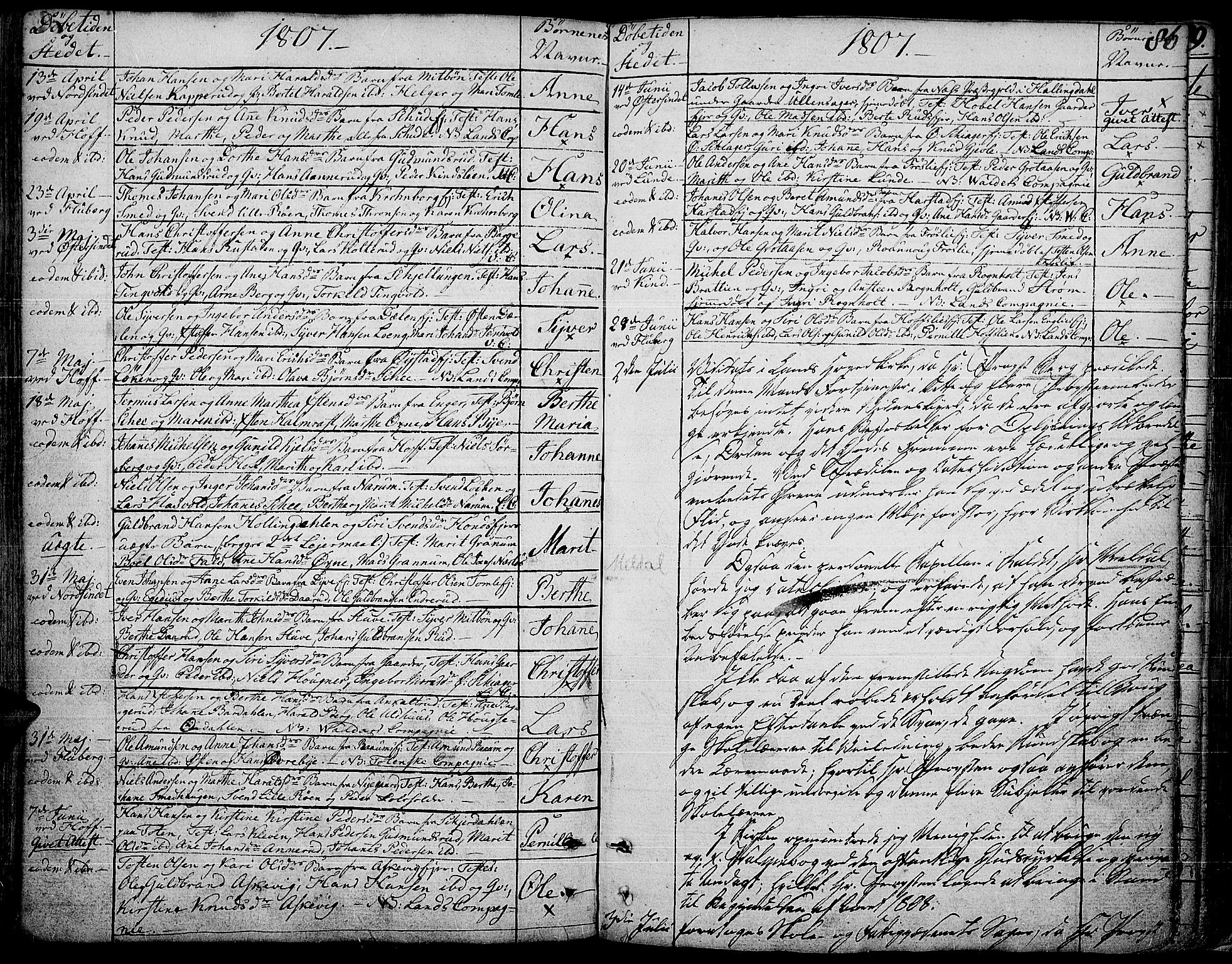 SAH, Land prestekontor, Ministerialbok nr. 6, 1784-1813, s. 86