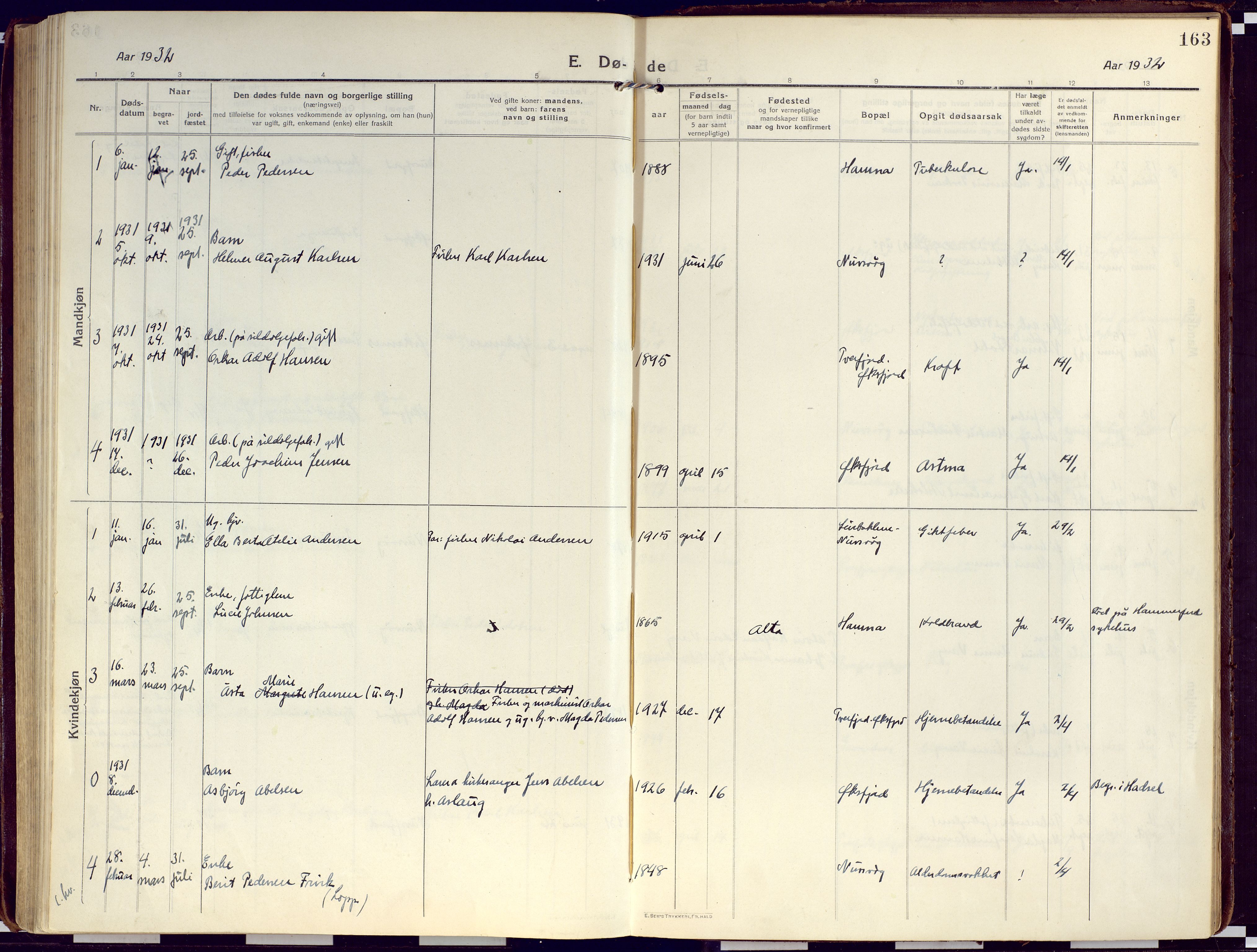 SATØ, Loppa sokneprestkontor, H/Ha/L0012kirke: Ministerialbok nr. 12, 1917-1932, s. 163