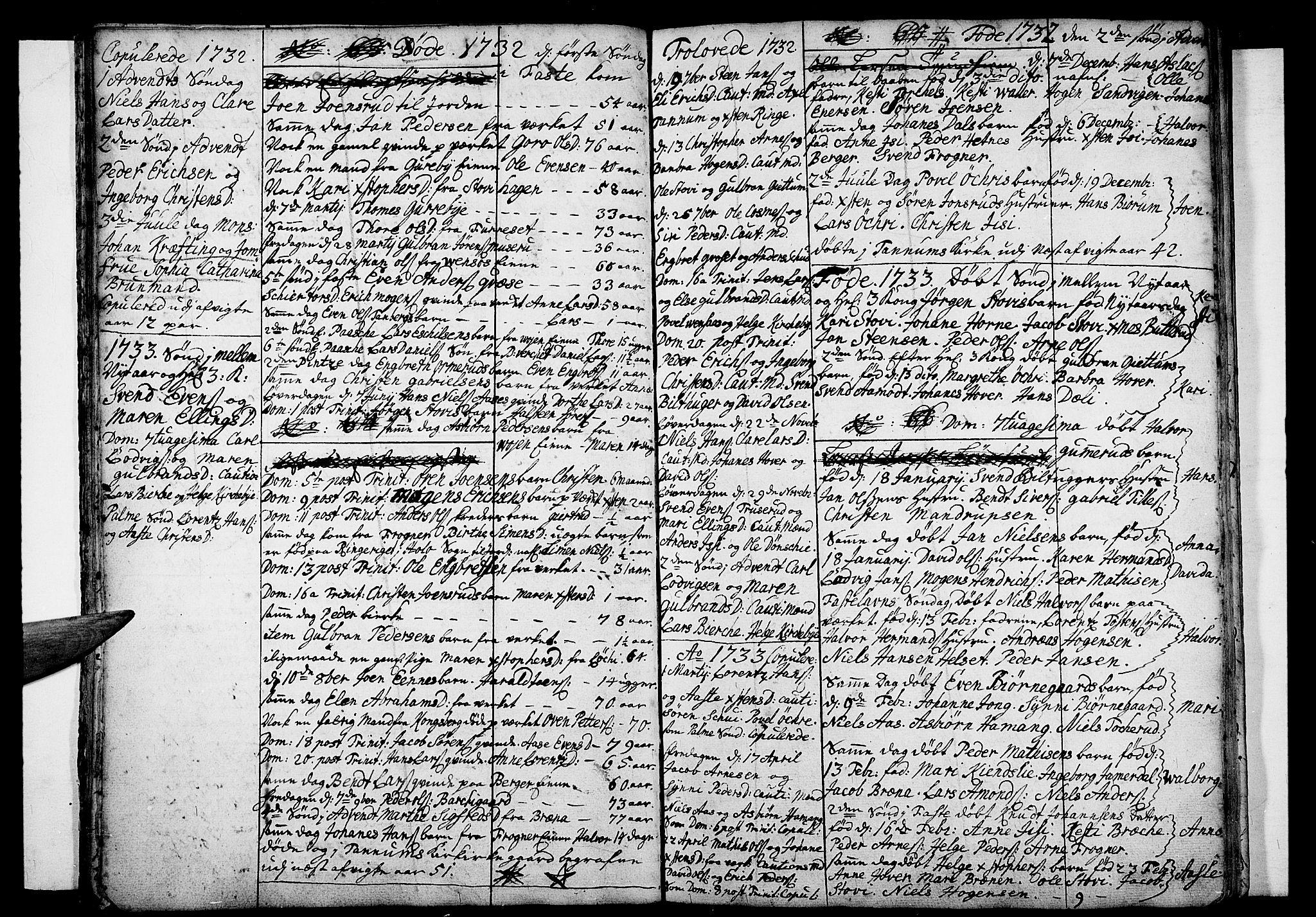SAO, Asker prestekontor Kirkebøker, F/Fa/L0001: Ministerialbok nr. I 1, 1726-1744, s. 19