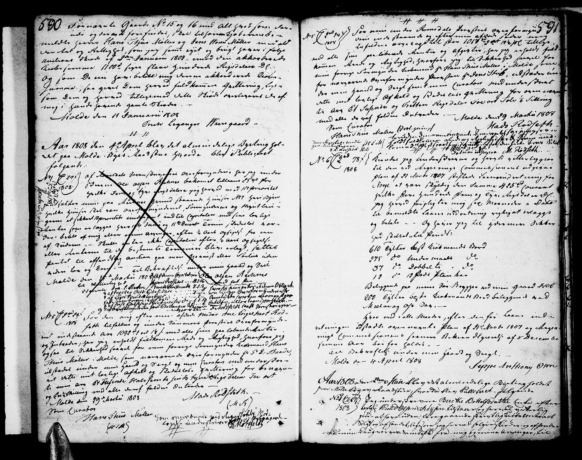 SAT, Molde byfogd, 2/2C/L0001: Pantebok nr. 1, 1748-1823, s. 590-591