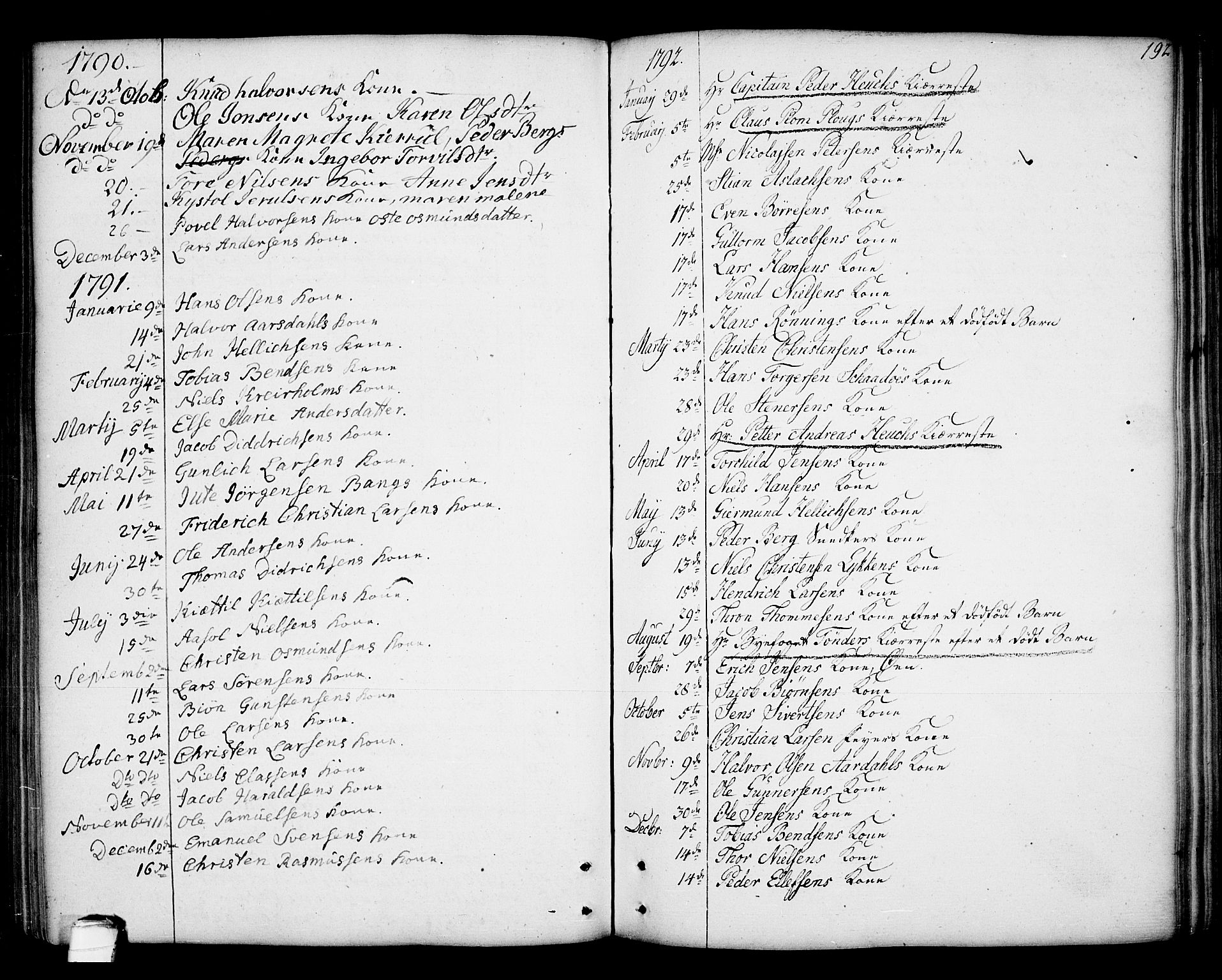 SAKO, Kragerø kirkebøker, F/Fa/L0002: Ministerialbok nr. 2, 1767-1802, s. 192
