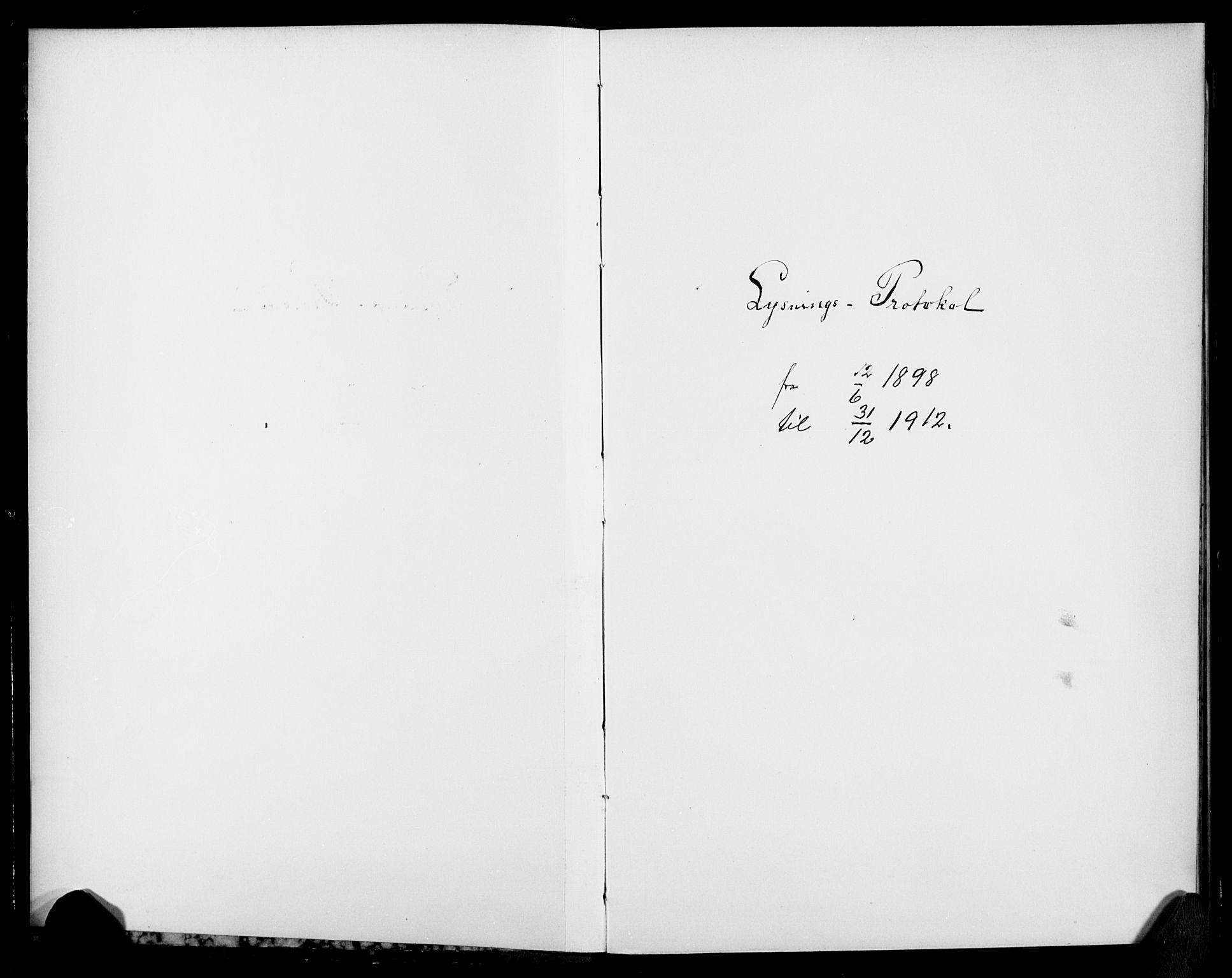 SAO, Vestre Aker prestekontor Kirkebøker, H/Ha/L0003: Lysningsprotokoll nr. 3, 1898-1912