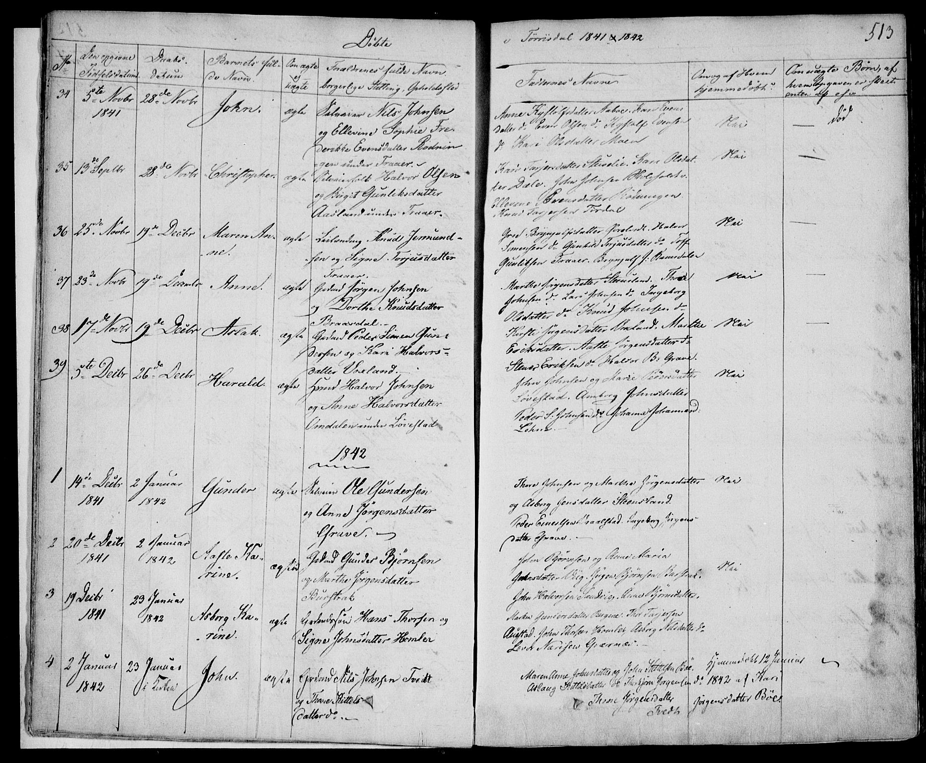 SAKO, Drangedal kirkebøker, F/Fa/L0007b: Ministerialbok nr. 7b, 1837-1856, s. 513