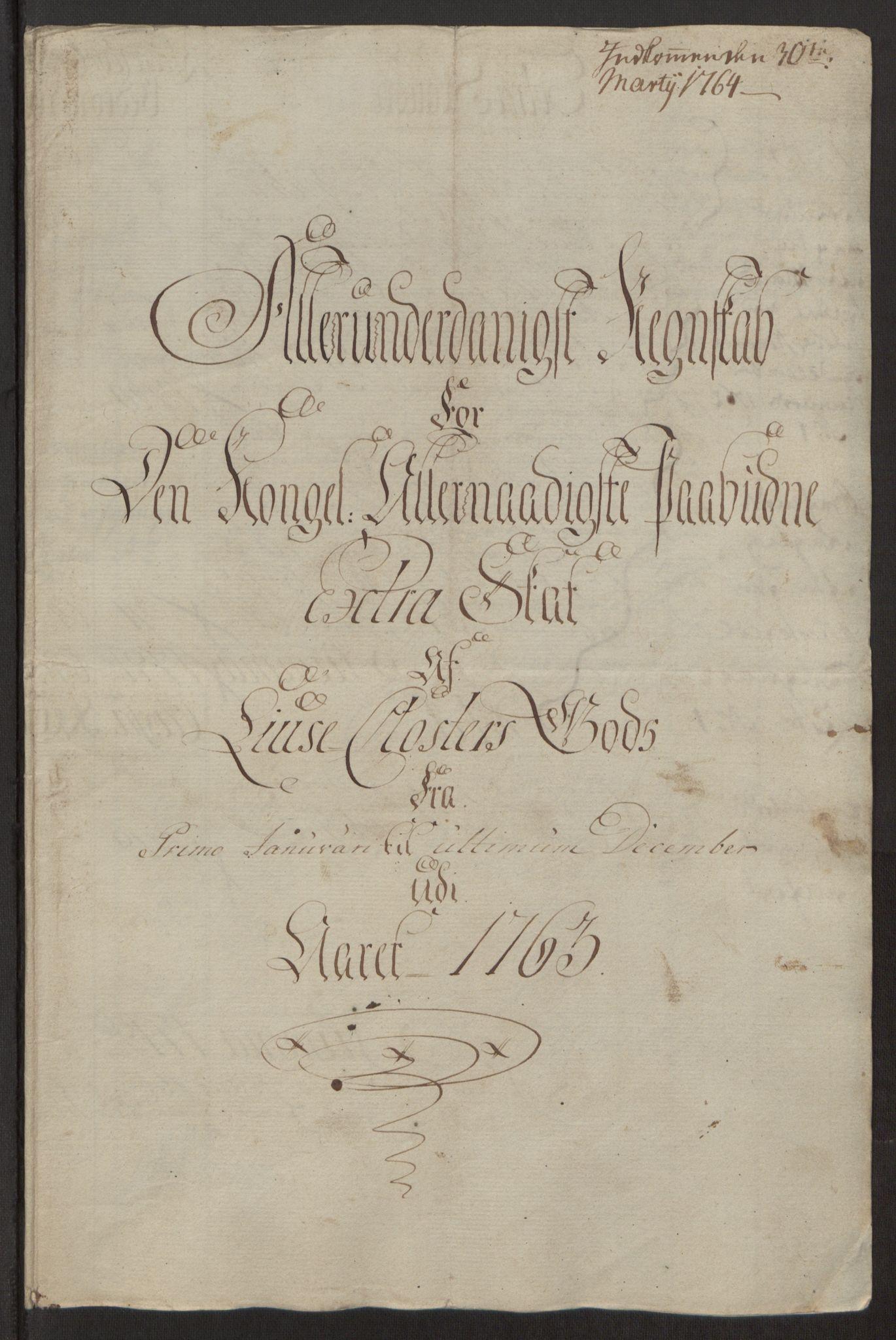 RA, Rentekammeret inntil 1814, Reviderte regnskaper, Fogderegnskap, R50/L3180: Ekstraskatten Lyse kloster, 1762-1783, s. 54