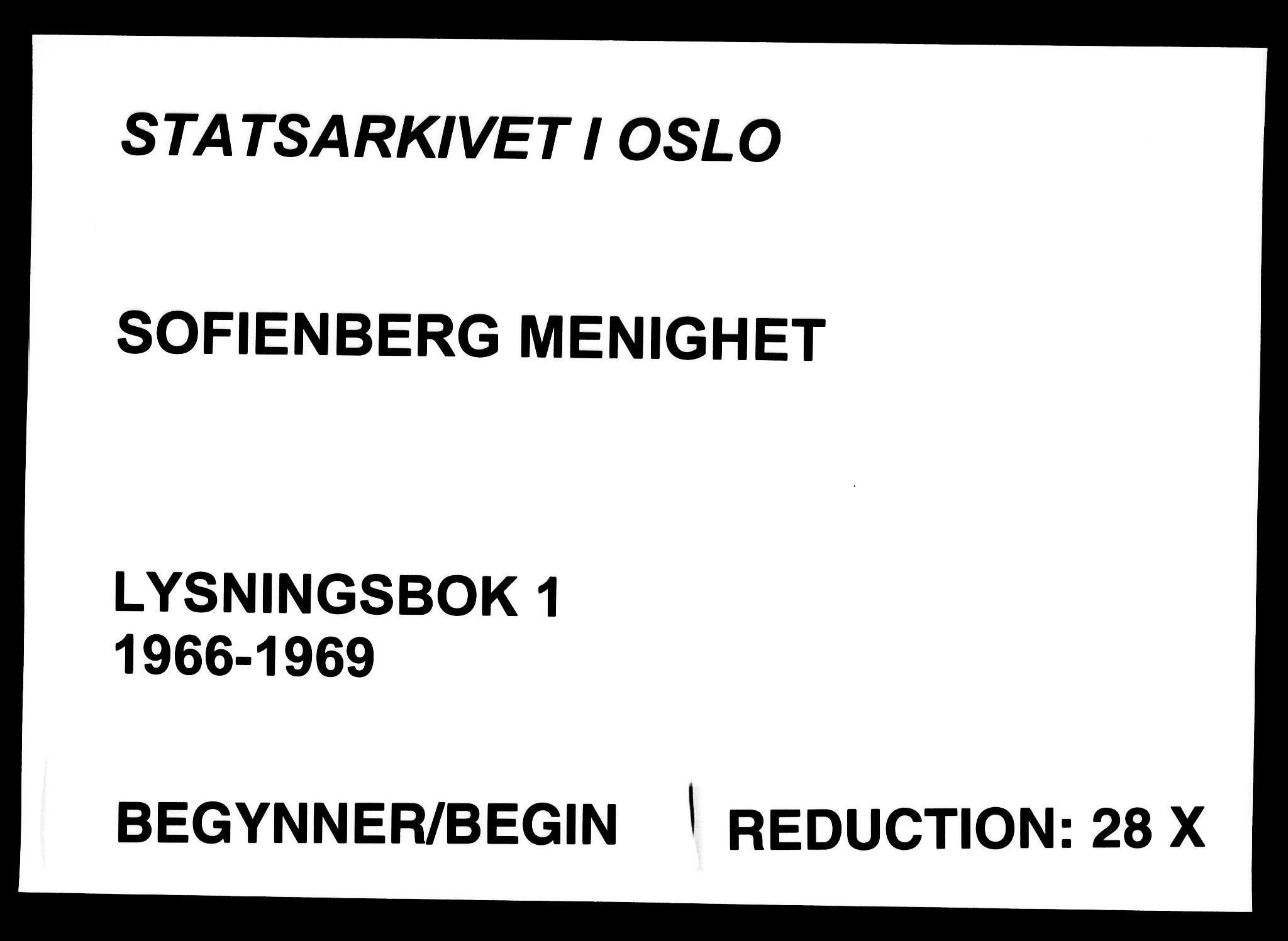 SAO, Sofienberg prestekontor kirkebøker, H/Ha/L0001: Lysningsprotokoll nr. 1, 1966-1969
