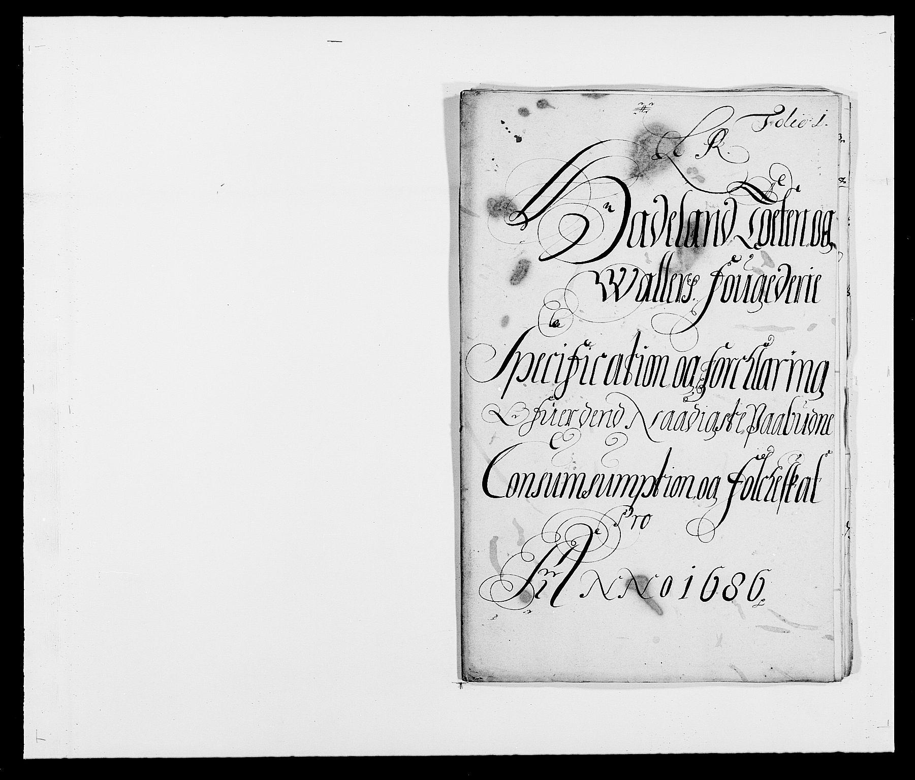 RA, Rentekammeret inntil 1814, Reviderte regnskaper, Fogderegnskap, R18/L1285: Fogderegnskap Hadeland, Toten og Valdres, 1686, s. 199