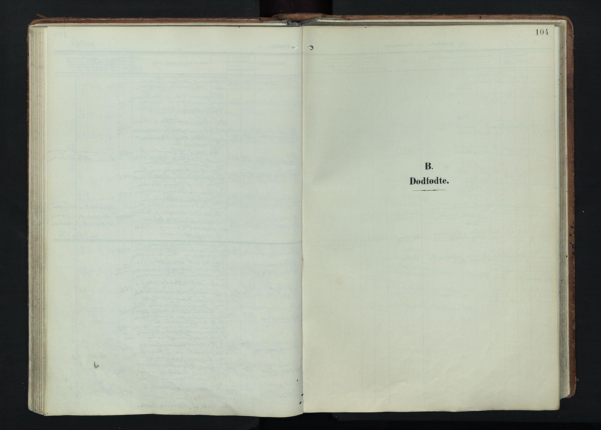 SAH, Vågå prestekontor, Ministerialbok nr. 11, 1905-1924, s. 104