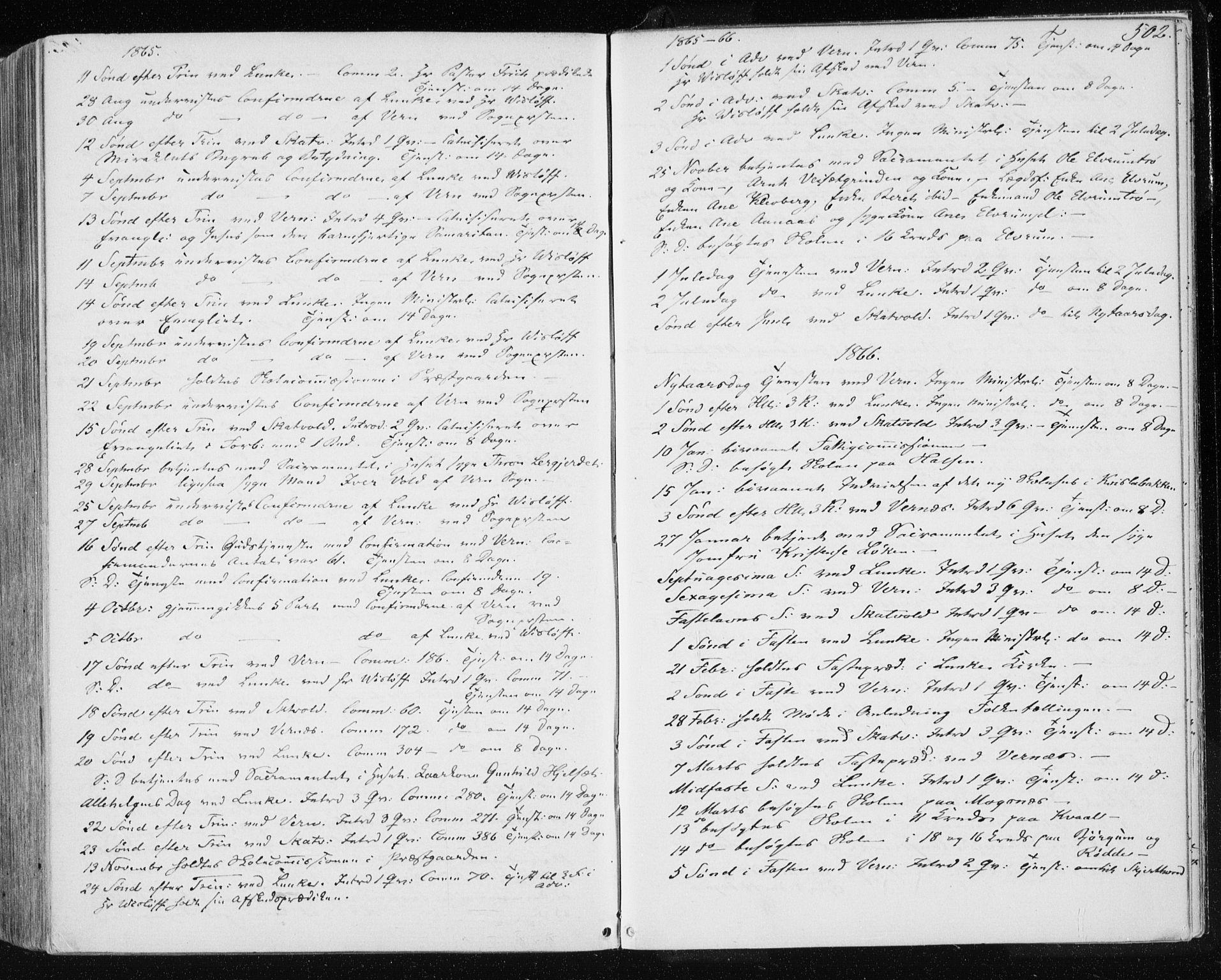 SAT, Ministerialprotokoller, klokkerbøker og fødselsregistre - Nord-Trøndelag, 709/L0075: Ministerialbok nr. 709A15, 1859-1870, s. 502