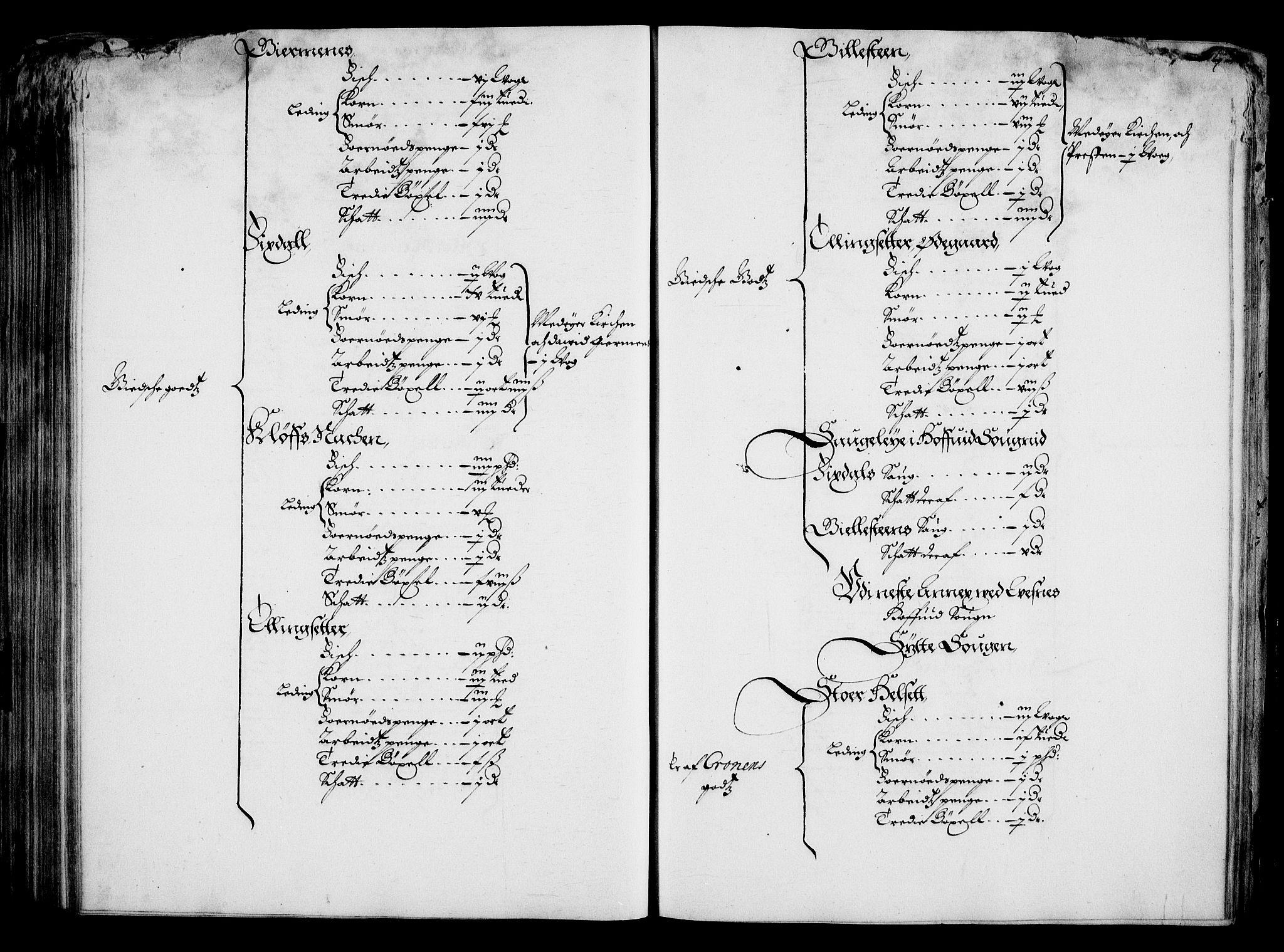 RA, Rentekammeret inntil 1814, Realistisk ordnet avdeling, On/L0001: Statens gods, 1651, s. 206