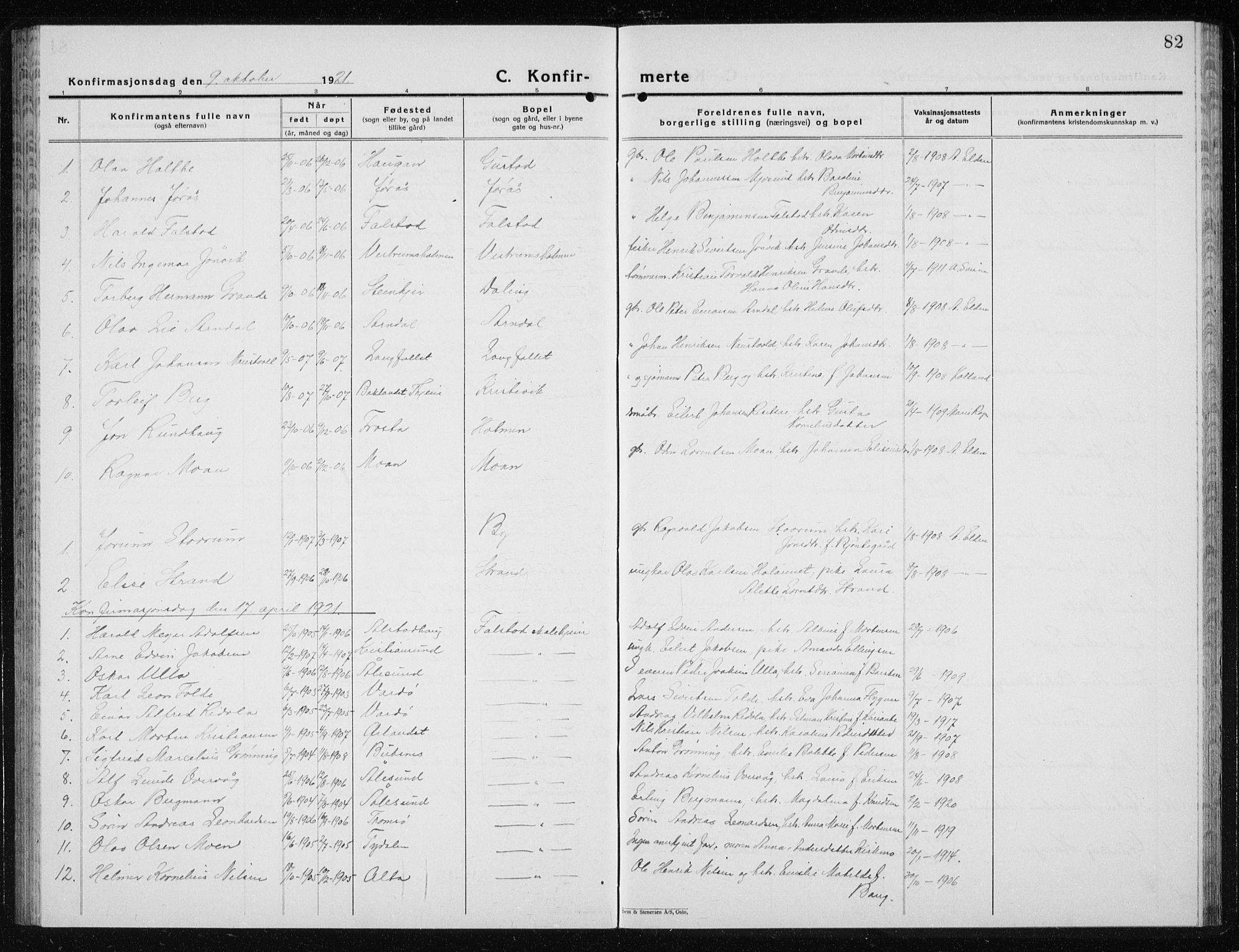 SAT, Ministerialprotokoller, klokkerbøker og fødselsregistre - Nord-Trøndelag, 719/L0180: Klokkerbok nr. 719C01, 1878-1940, s. 82