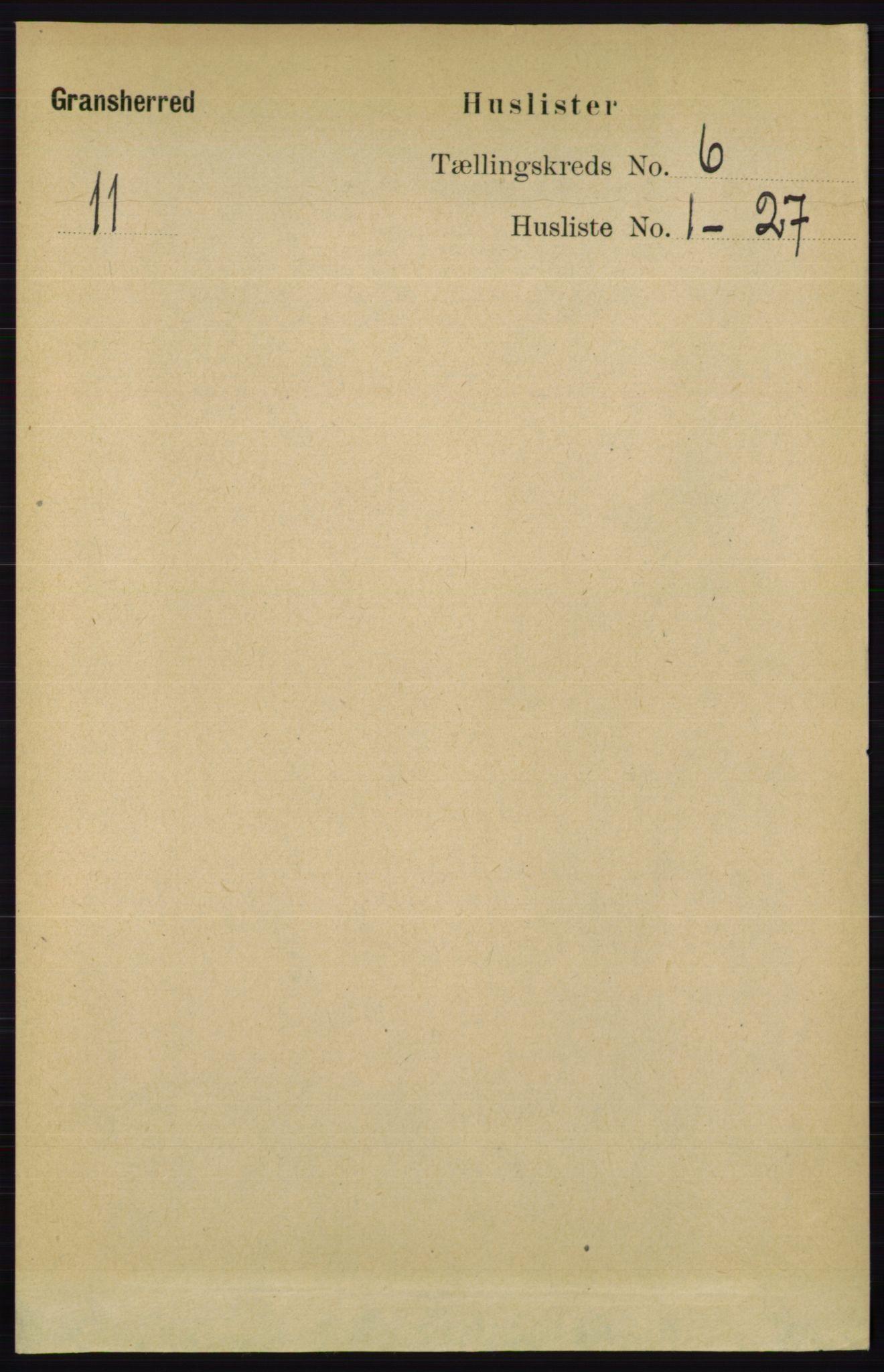 RA, Folketelling 1891 for 0824 Gransherad herred, 1891, s. 978