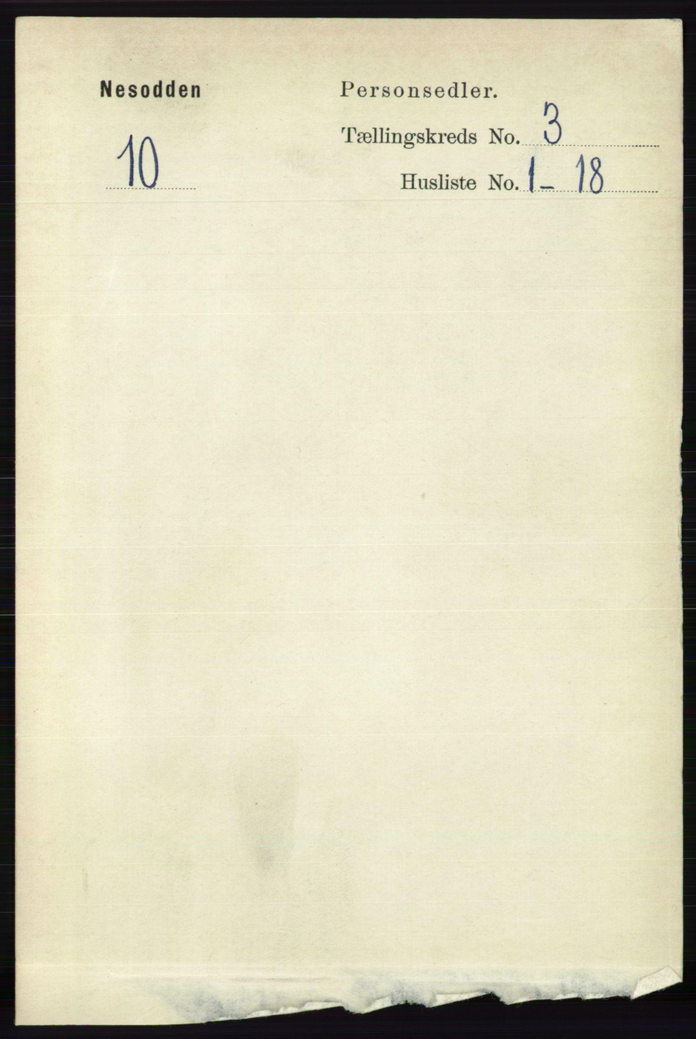 RA, Folketelling 1891 for 0216 Nesodden herred, 1891, s. 1062