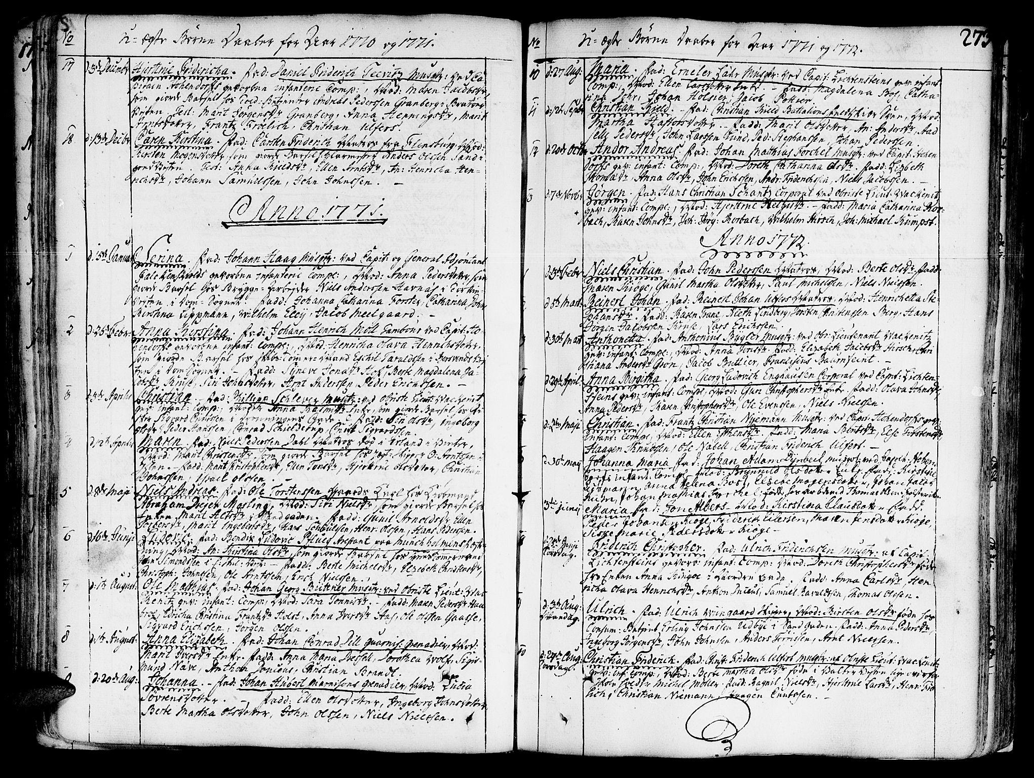 SAT, Ministerialprotokoller, klokkerbøker og fødselsregistre - Sør-Trøndelag, 602/L0103: Ministerialbok nr. 602A01, 1732-1774, s. 273