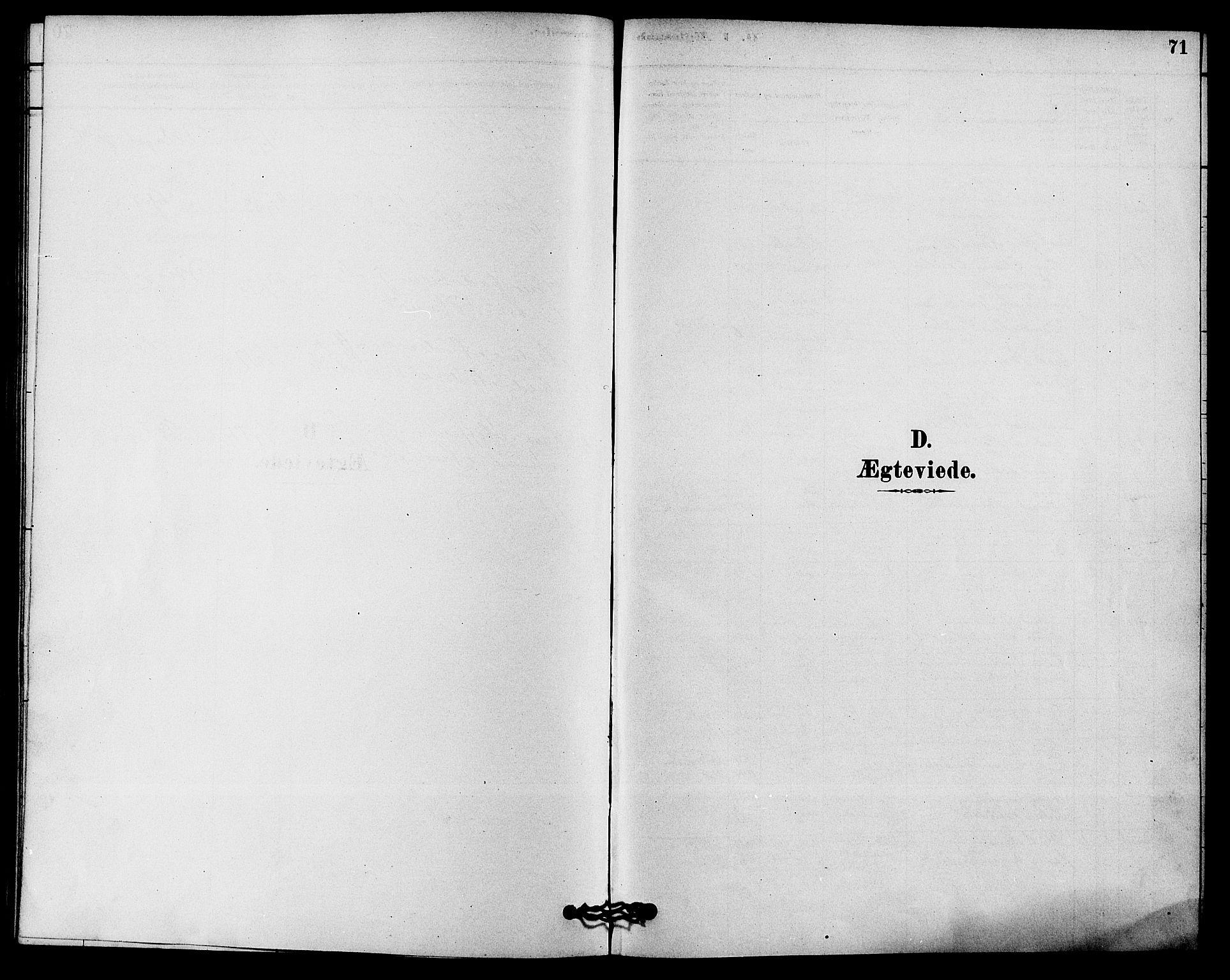 SAKO, Solum kirkebøker, F/Fc/L0001: Ministerialbok nr. III 1, 1877-1891, s. 71