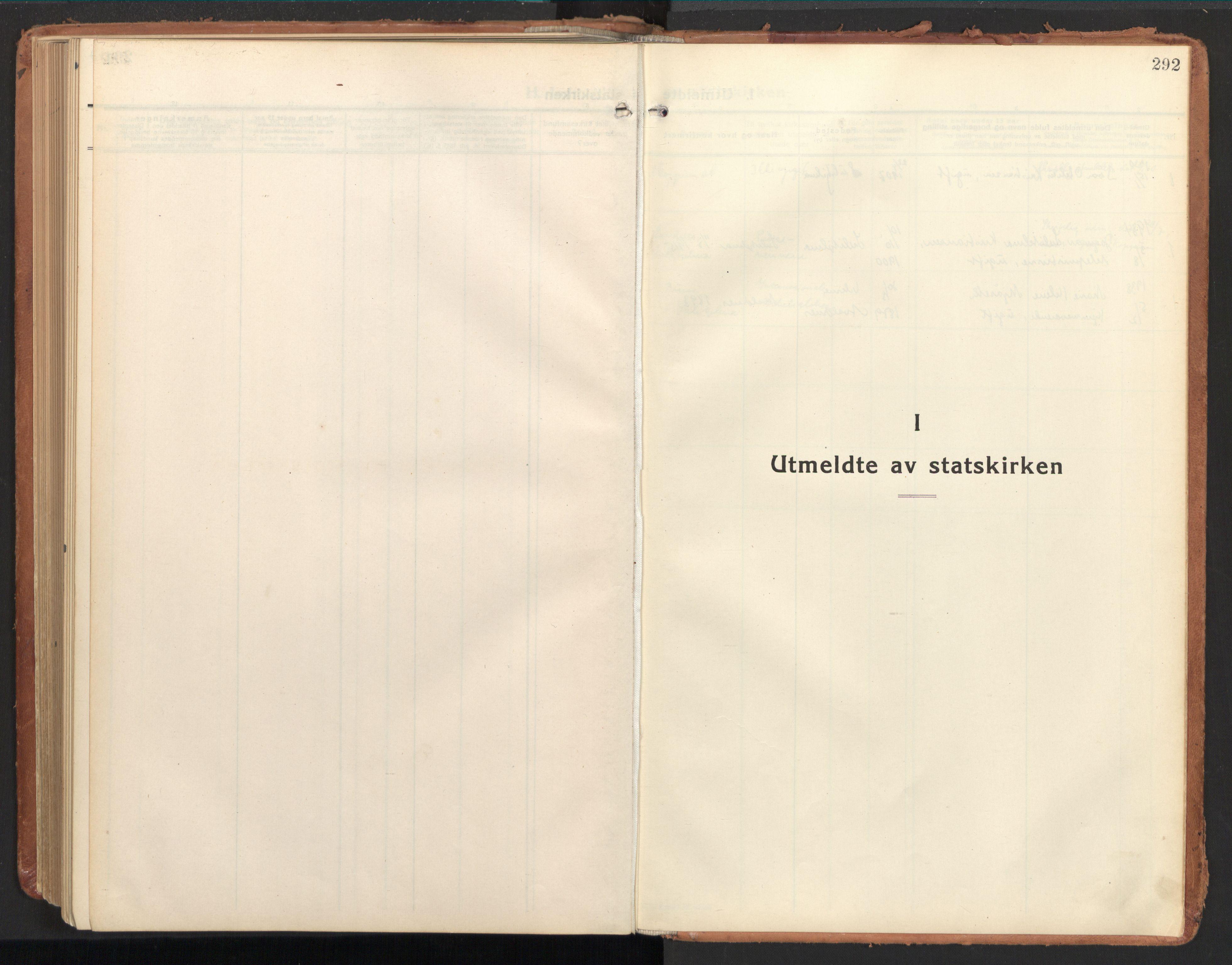 SAT, Ministerialprotokoller, klokkerbøker og fødselsregistre - Nordland, 850/L0716: Residerende kapellans bok nr. 850B06, 1924-1938, s. 292