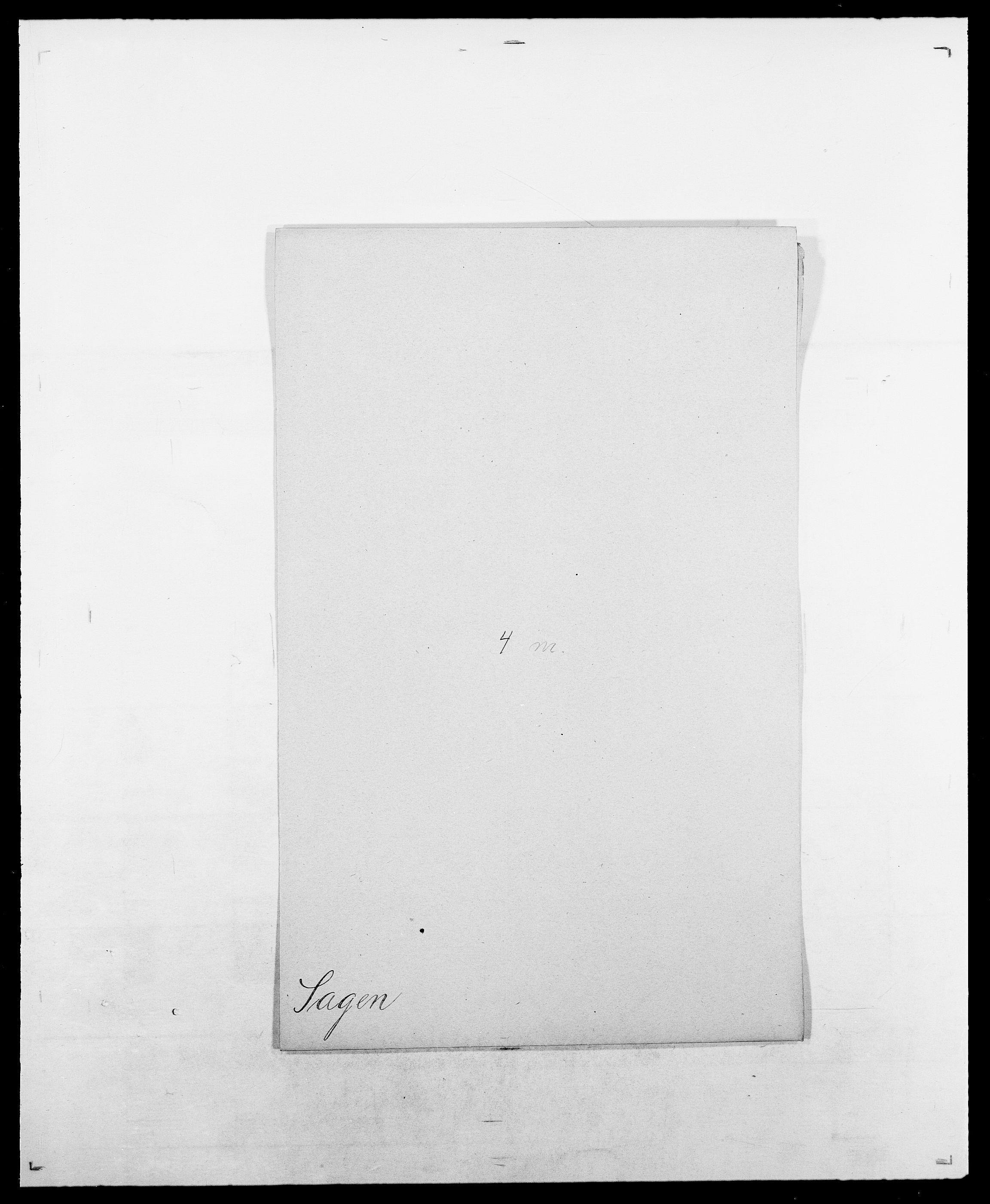 SAO, Delgobe, Charles Antoine - samling, D/Da/L0034: Saabye - Schmincke, s. 27
