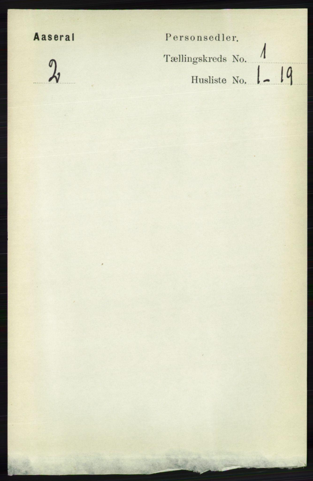 RA, Folketelling 1891 for 1026 Åseral herred, 1891, s. 59