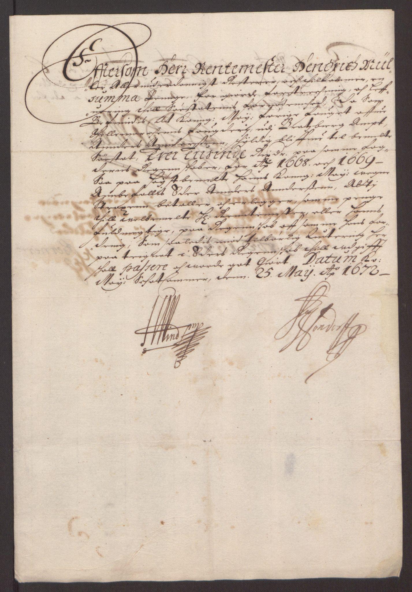 RA, Rentekammeret inntil 1814, Reviderte regnskaper, Fogderegnskap, R35/L2059: Fogderegnskap Øvre og Nedre Telemark, 1668-1670, s. 50